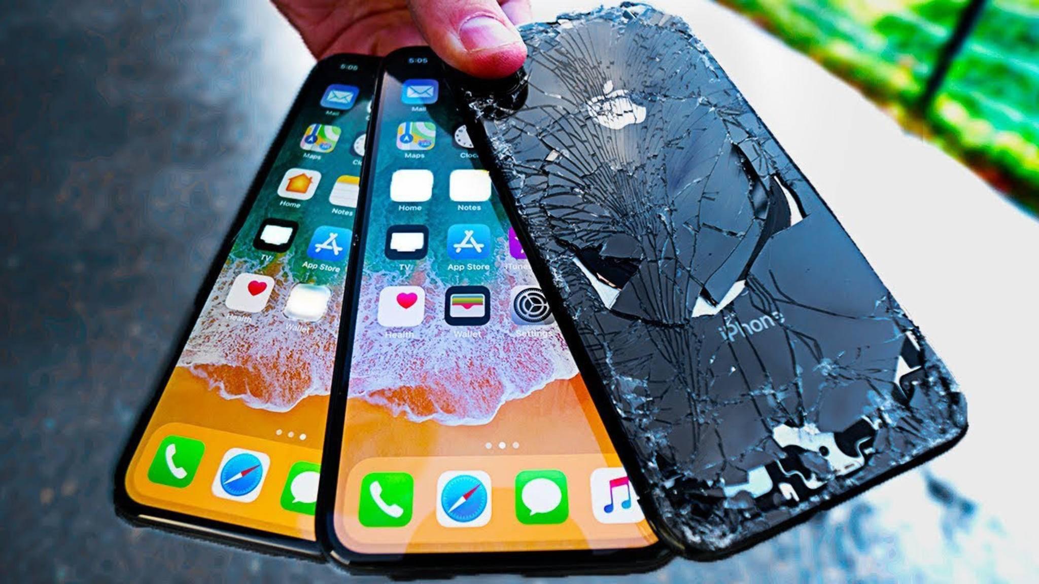 Da hilft auch das stabilste Smartphone-Glas nicht: Stürze übersteht das iPhone X oftmals nicht.