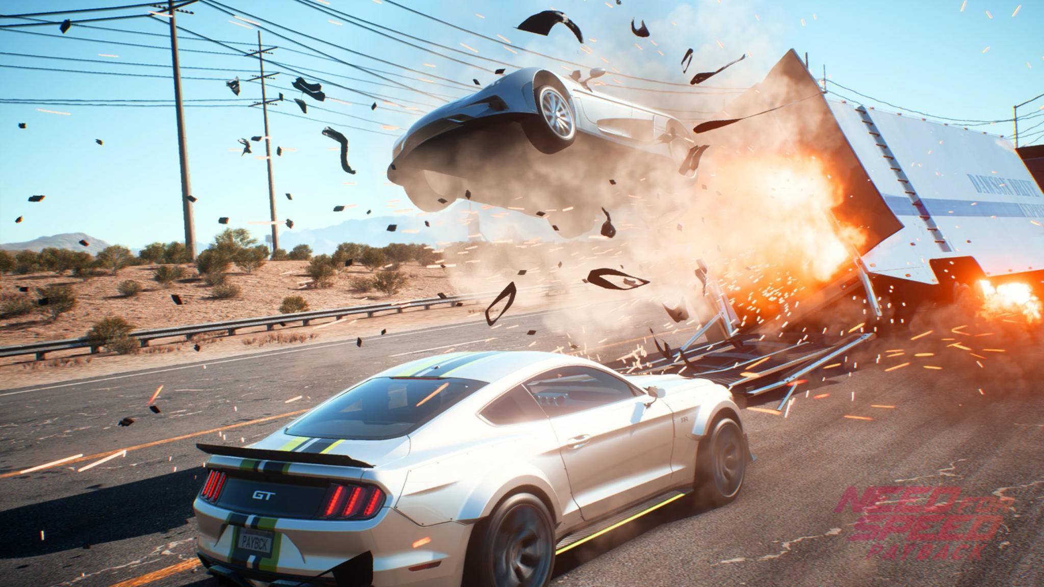 """In """"Need for Speed: Payback"""" kannst Du nun auch mit Freunden durch die offene Spielwelt brettern."""