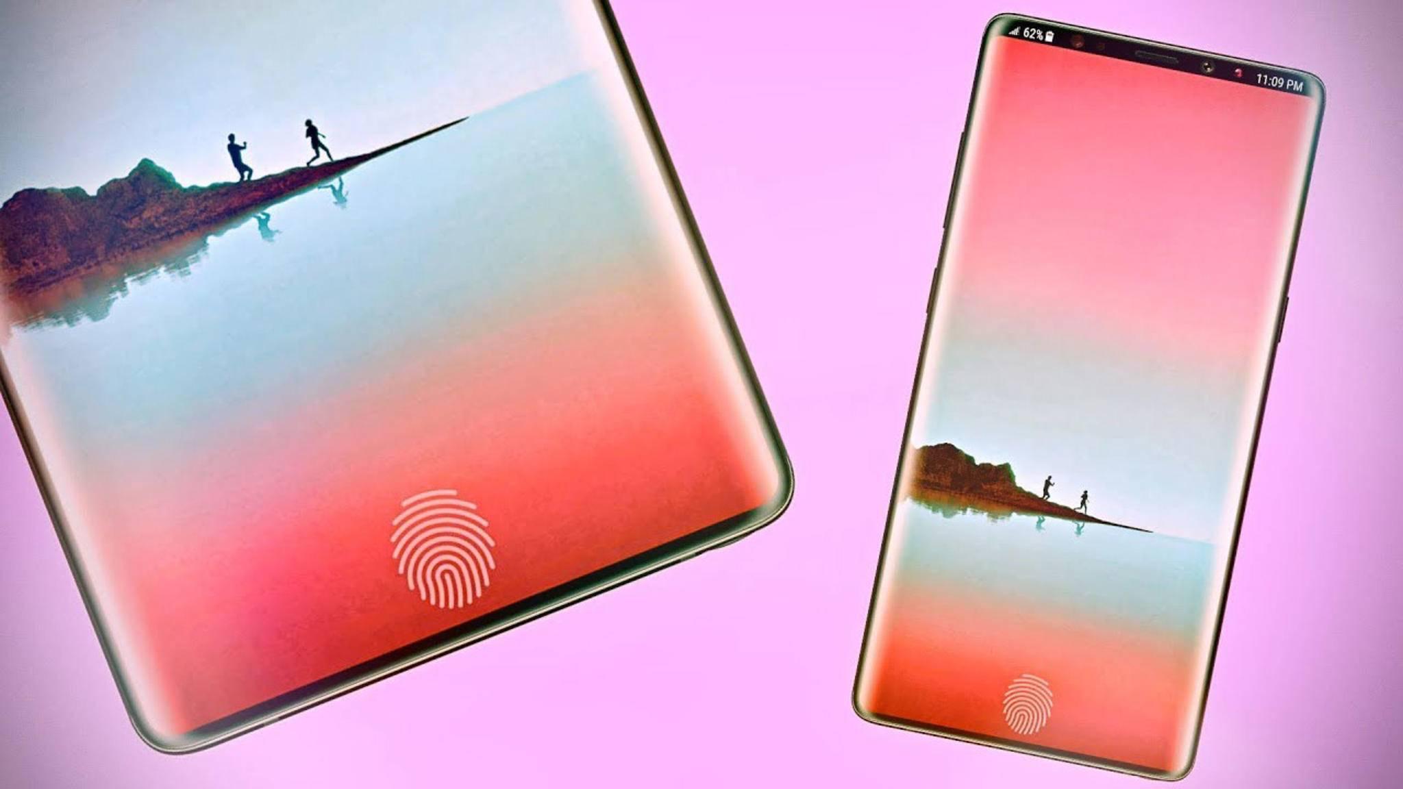 Das Galaxy Note 9 (Konzeptbild) wird wohl noch keinen Fingerabdrucksensor im Display bieten.