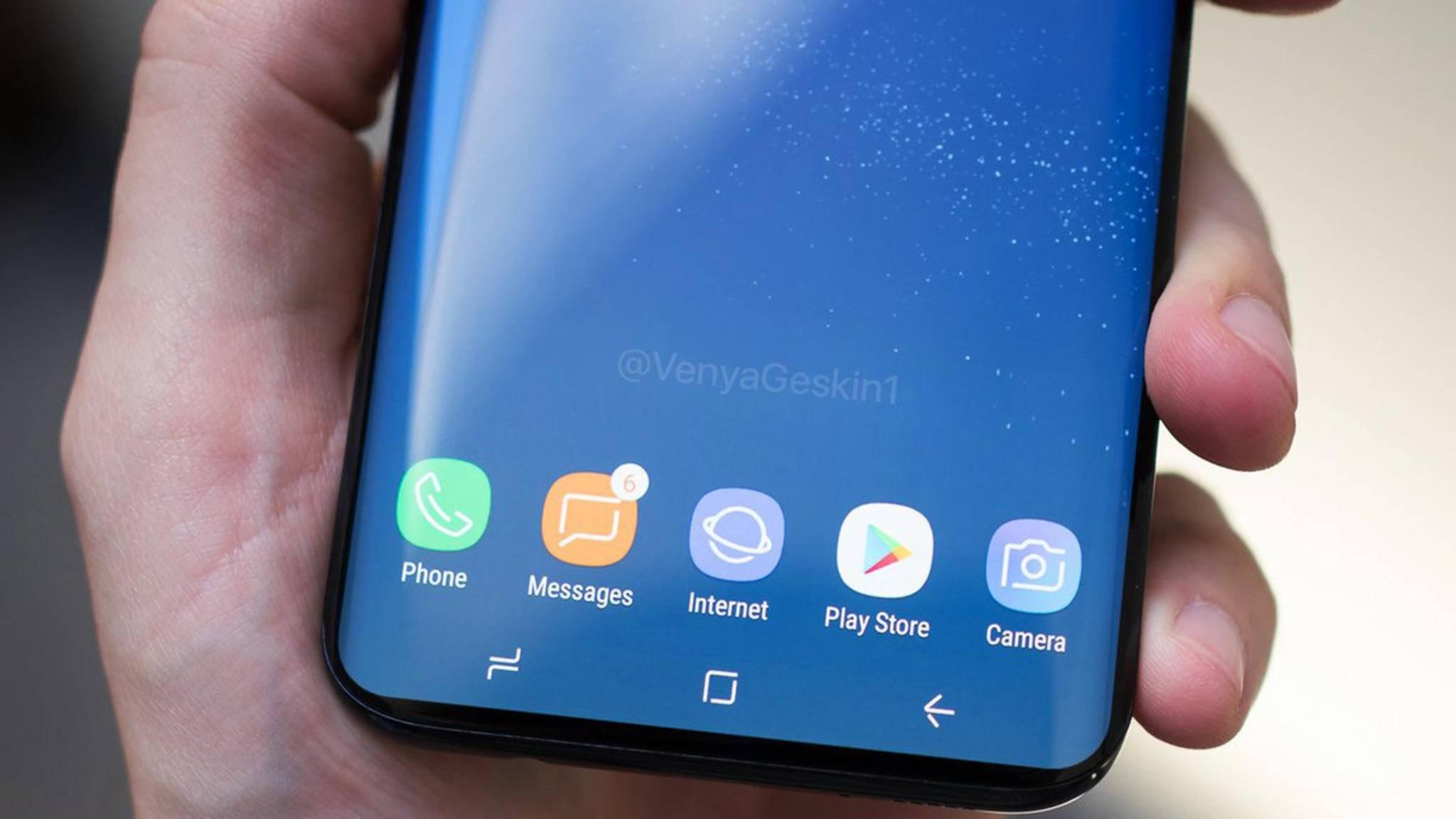 Noch dünnere Displayränder: So könnte das Galaxy S9 aussehen.