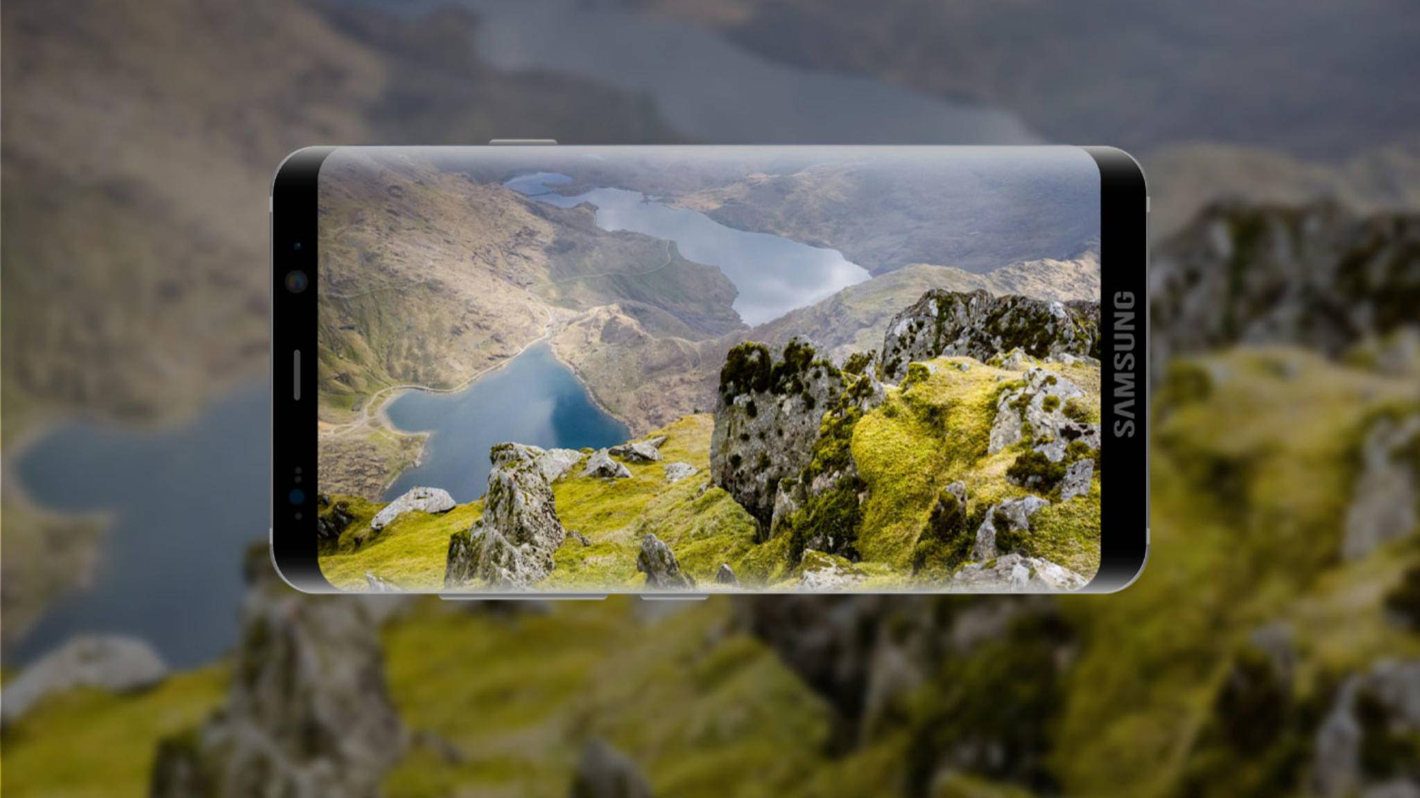 Hat das Galaxy S9 (Renderkonzept) erstmals einen Fingerabdruckscanner unter dem Display?