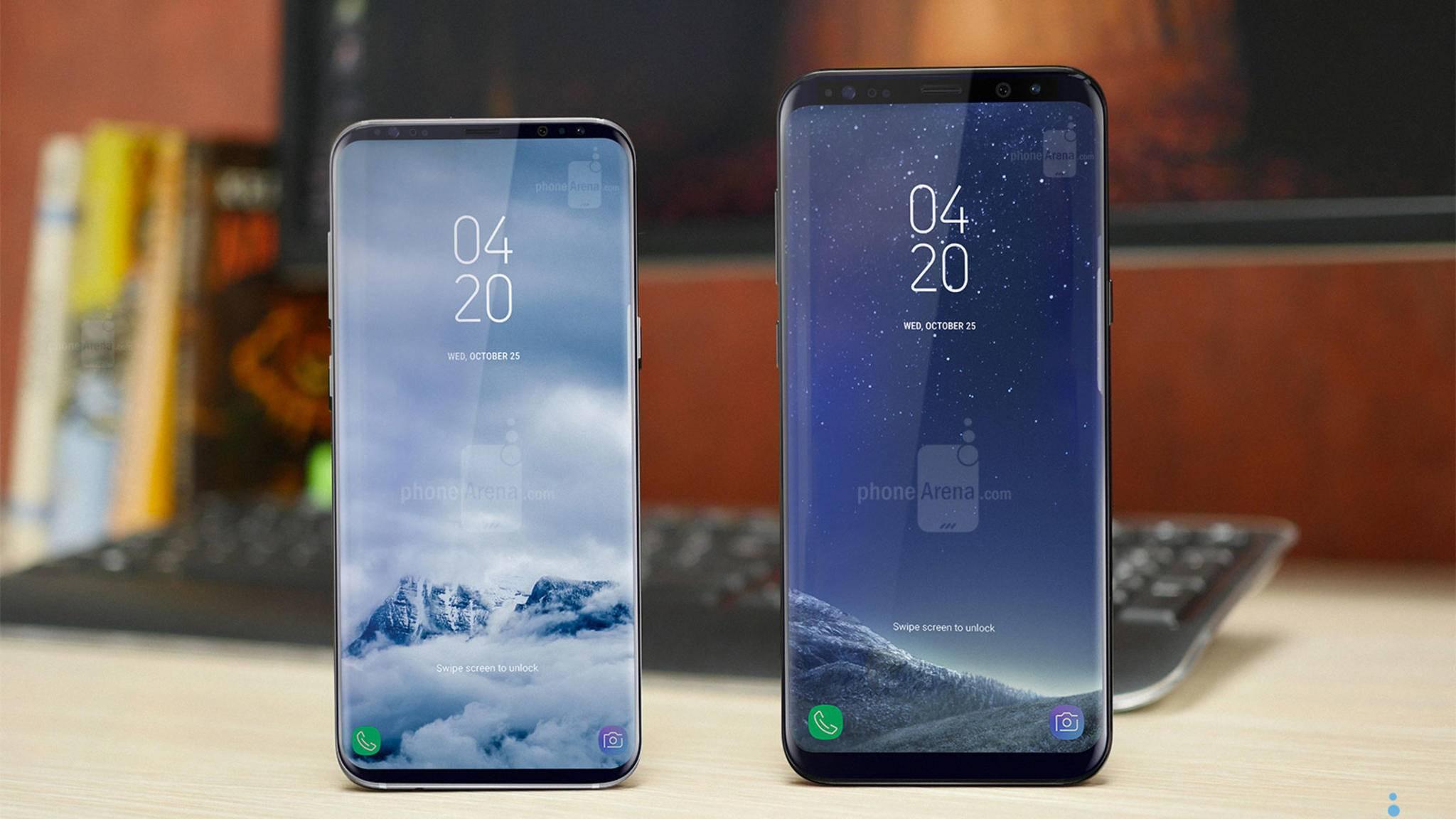 So könnte ein Galaxy S9 (links) im Vergleich zum Galaxy S8 aussehen.