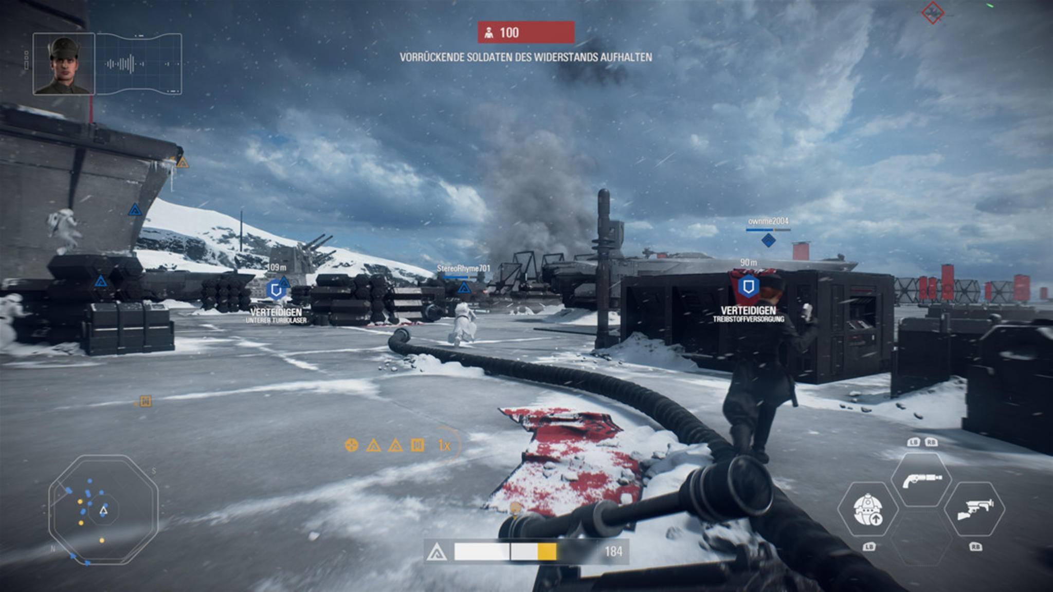 Multiplayer-Gefechte finden etwa auf der Starkiller-Basis der Ersten Ordnung...