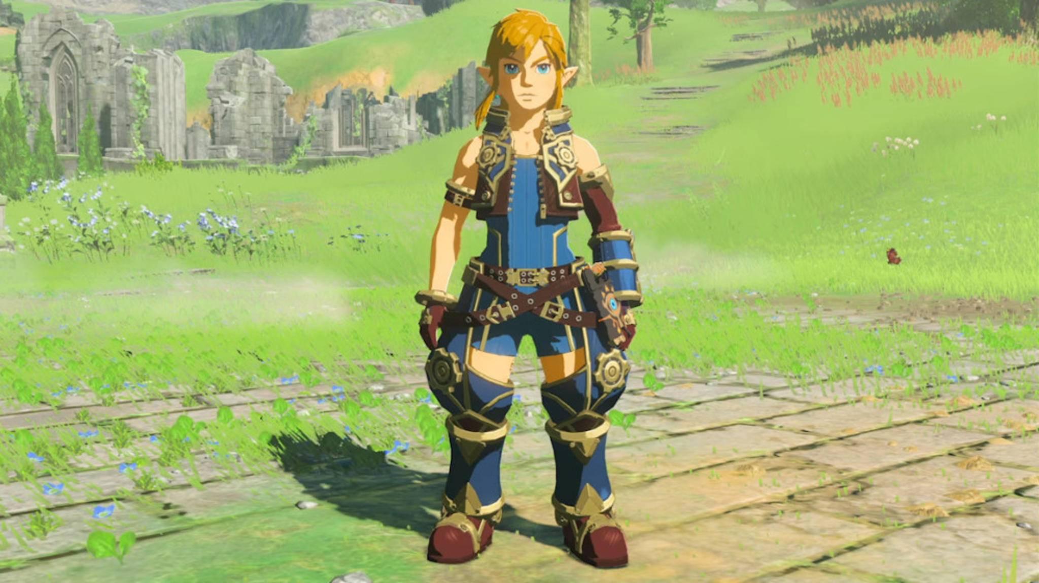 """Mit dem Bergungstaucher-Outfit kann sich Link als Rex aus """"Xenoblade Chronicles 2"""" verkleiden."""