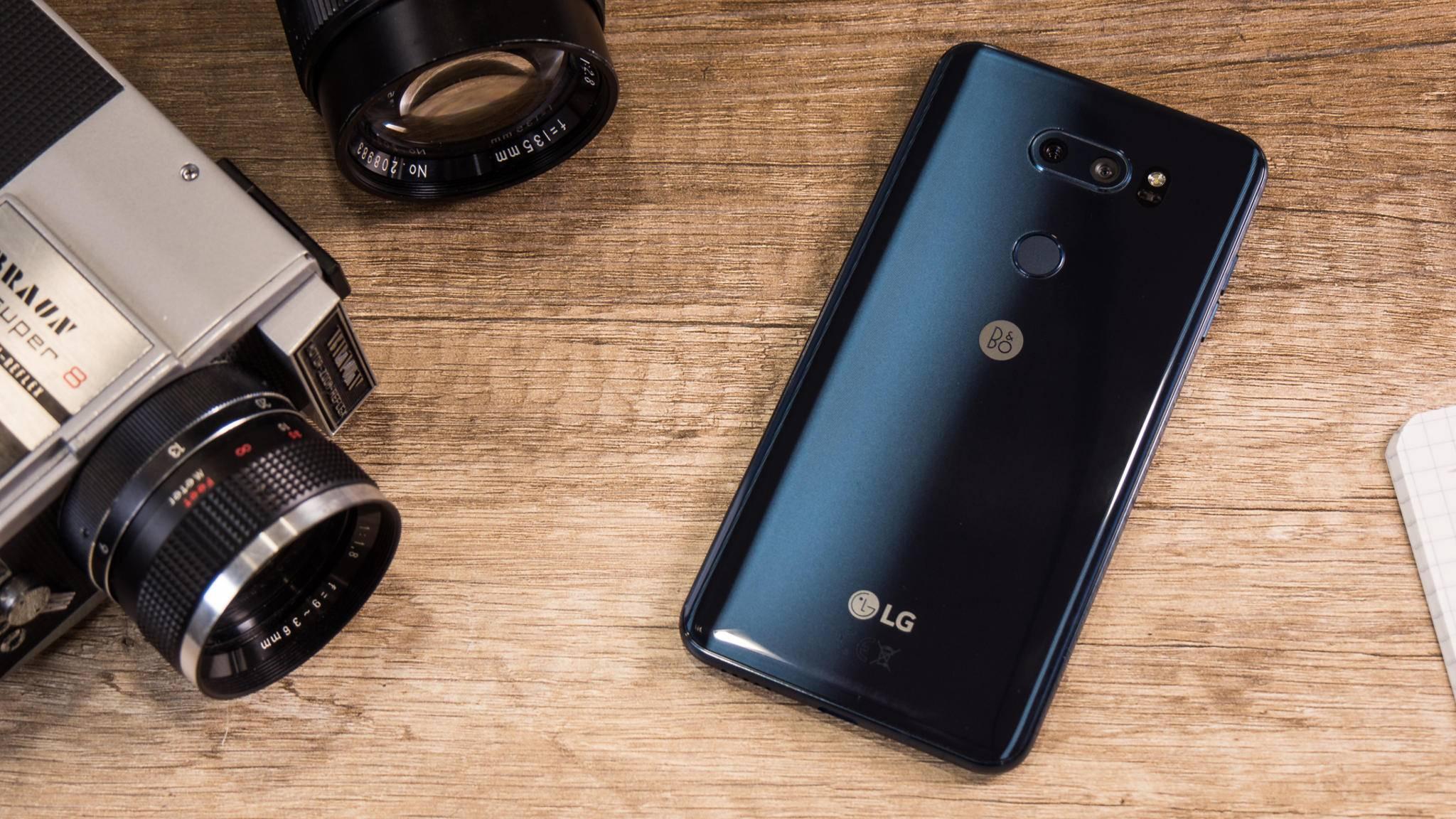 Das LG V30 ist aus Metall und Glas gefertigt.
