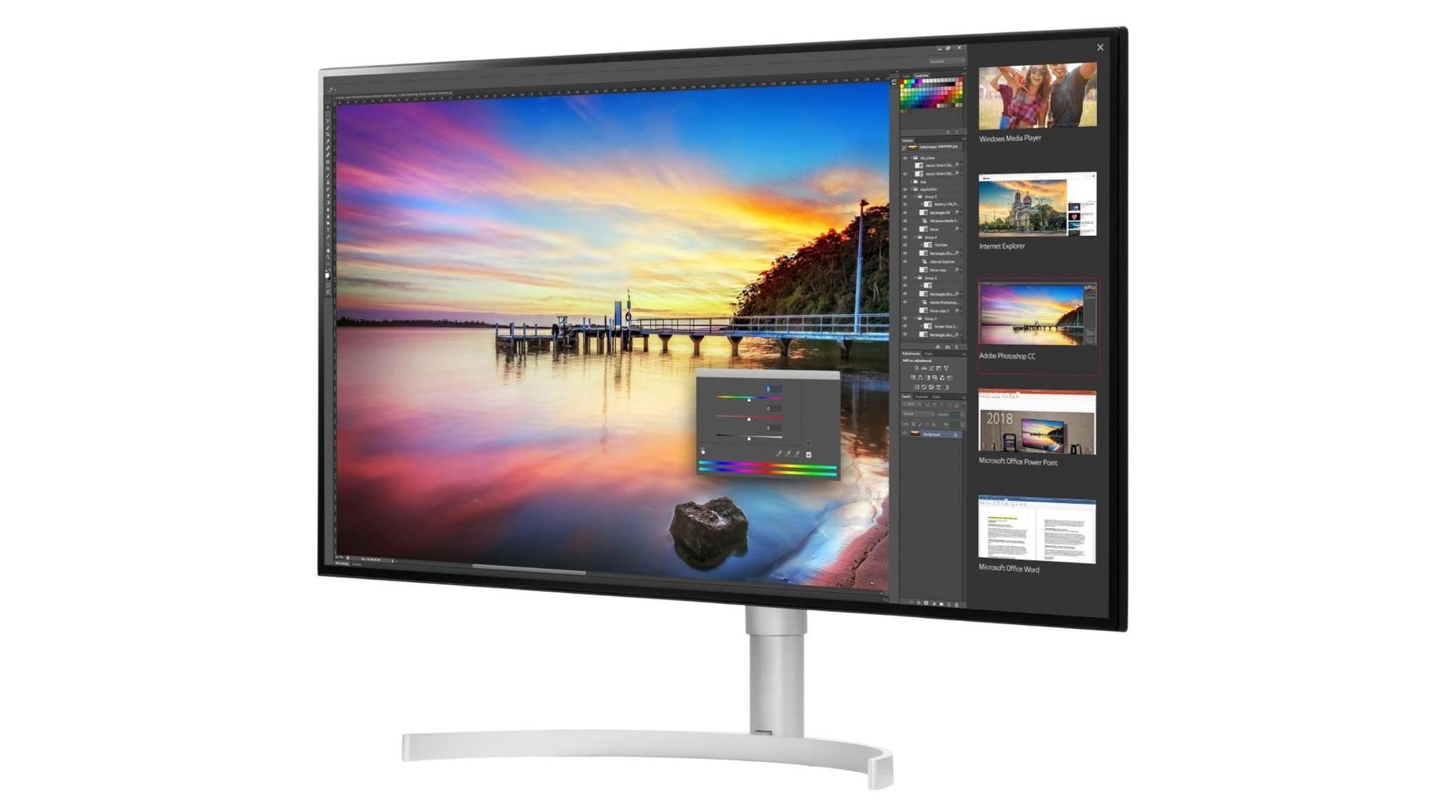 Der 5K-Monitor LG 32UK950 unterstützt auch HDR.