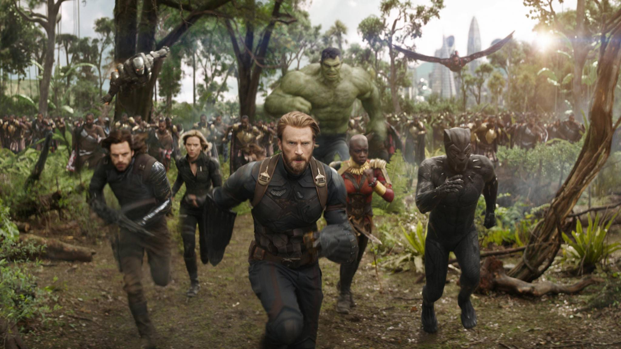Captain America und Co. in Avengers: Infinity War