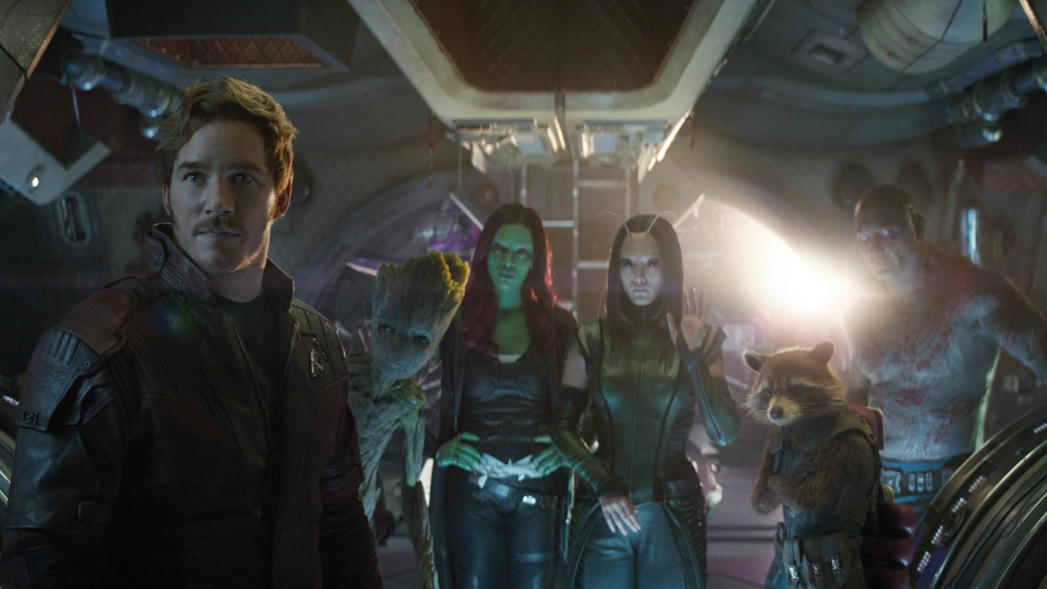 Auch die Guardians sind auf dem Marvel-Klassenfoto zu sehen – selbst Vin Diesel, der Baum-Alien Groot lediglich seine Stimme lieh.