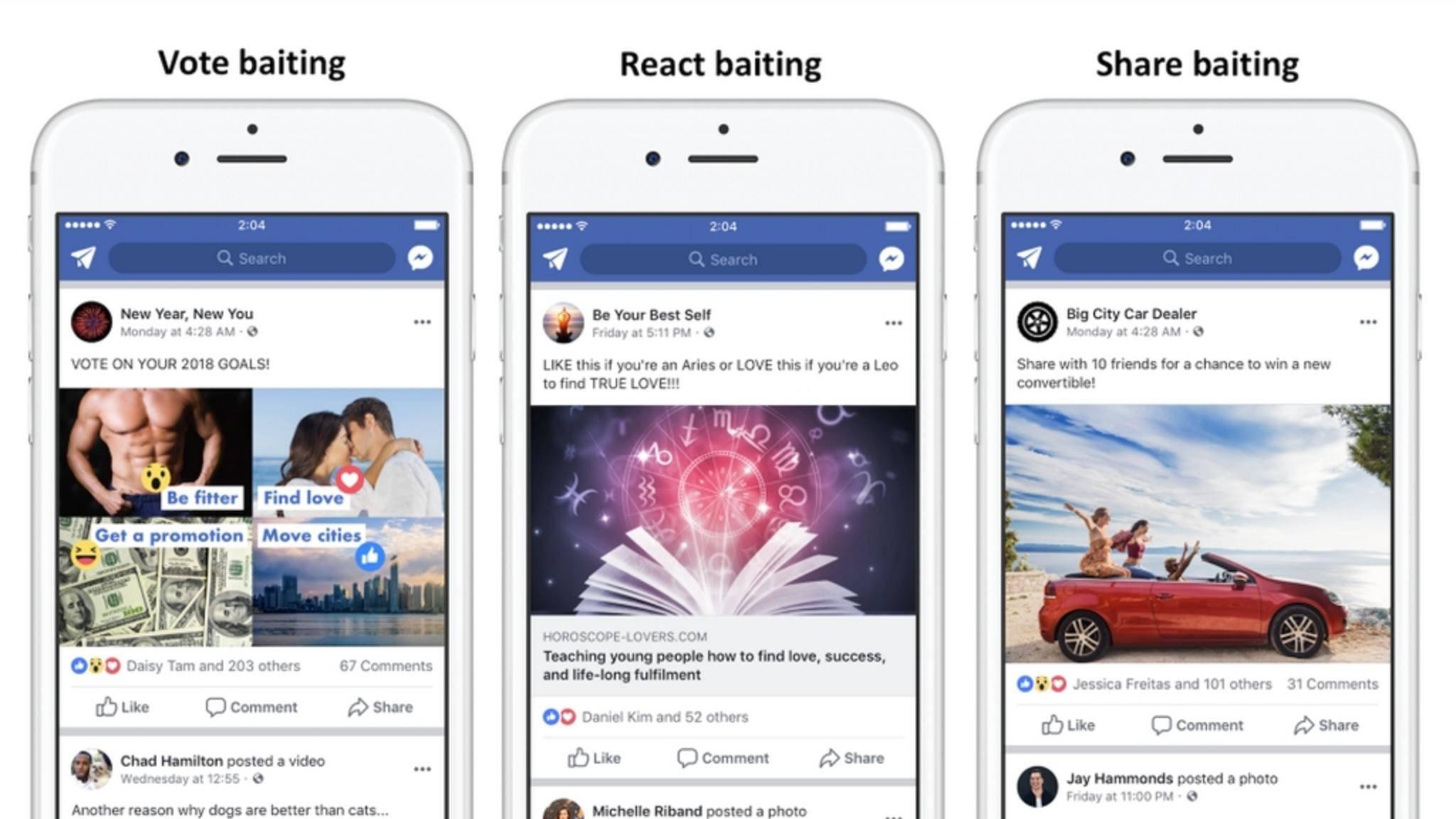 Facebook geht gegen Clickbaiting vor.