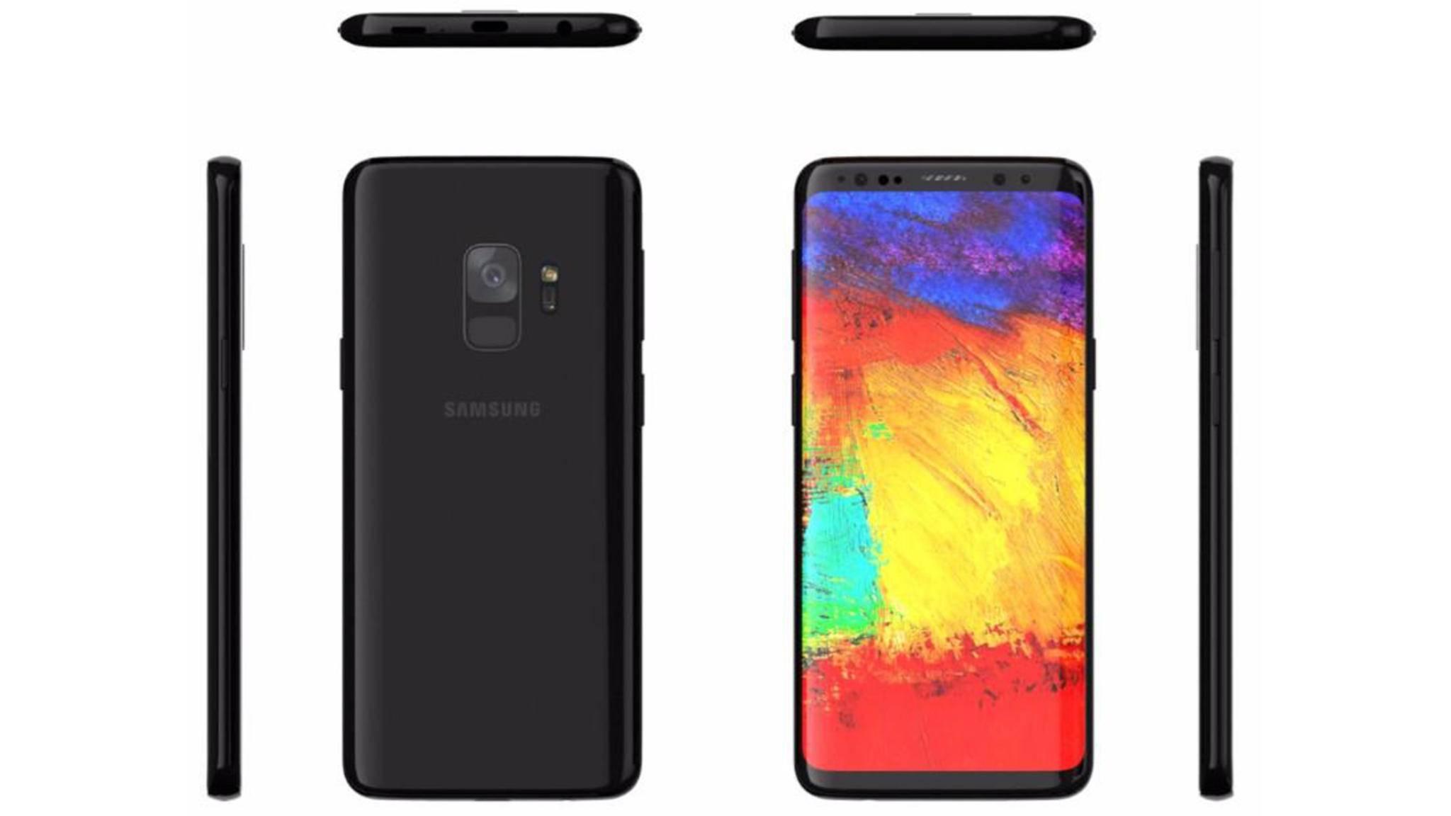 So soll es also aussehen, das Samsung Galaxy S9.