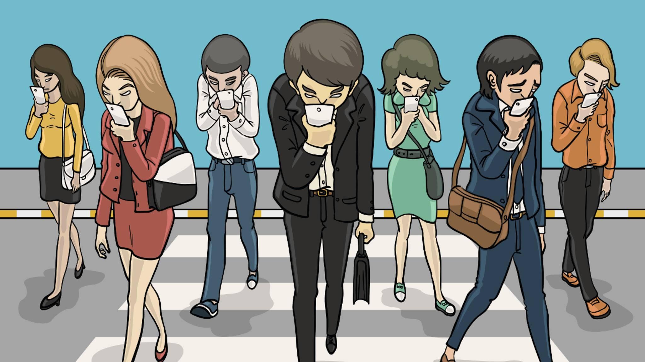 Diese sechs Apps helfen gegen das Smombie-Dasein.