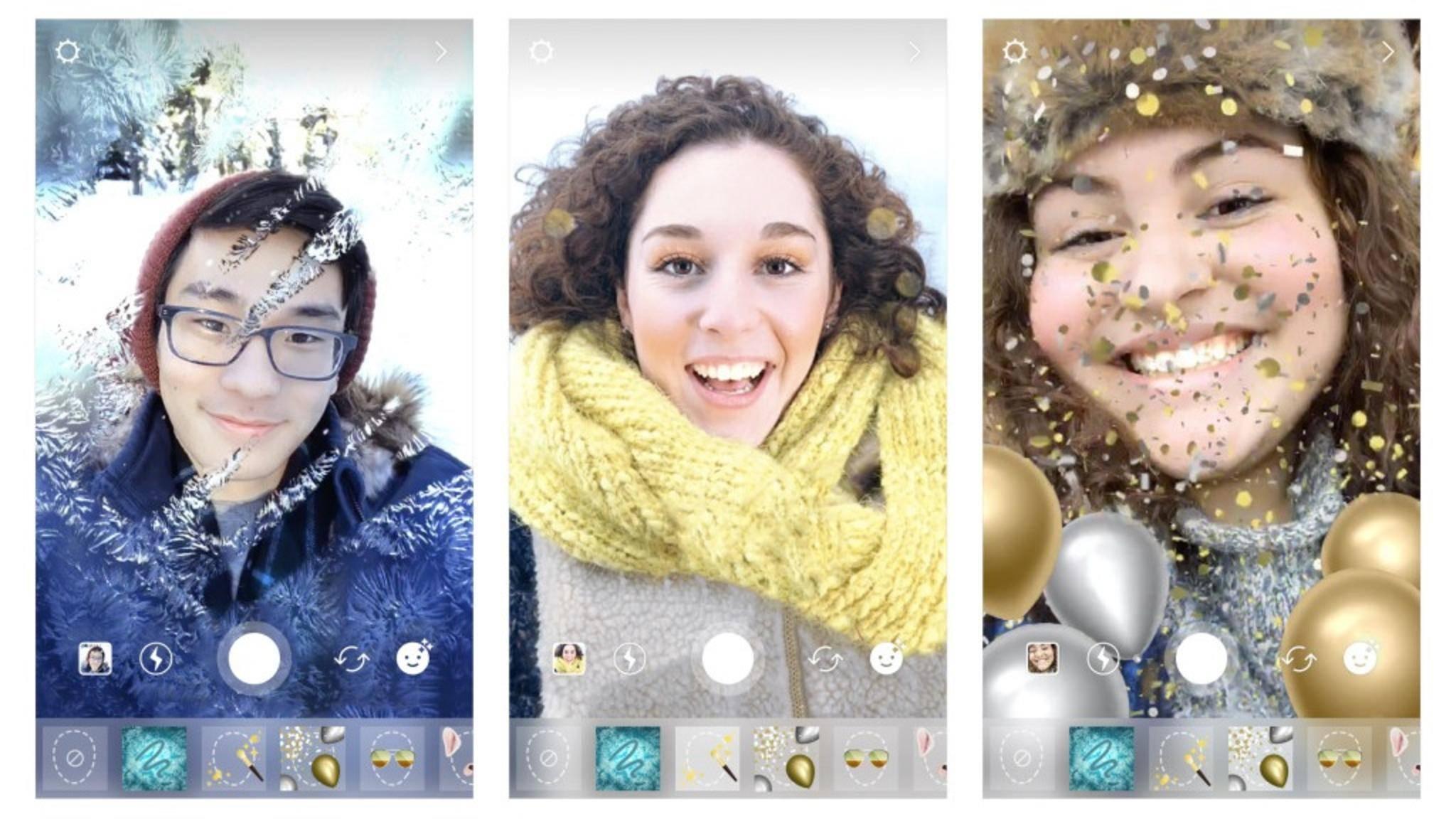 Die neuen Instagram-Weihnachtsfilter sorgen für Festtagsstimmung.