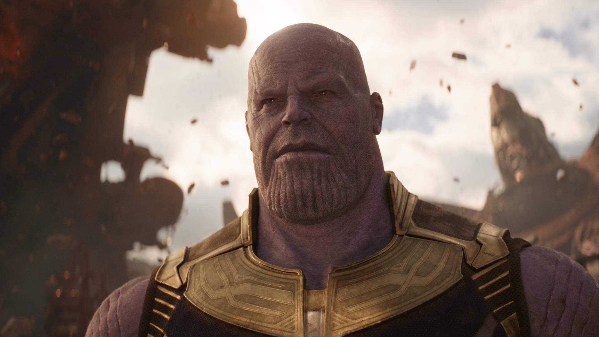 """Marvel-Fiesling Thanos nimmt in """"Infinity War"""" keine Rücksicht auf Verluste."""