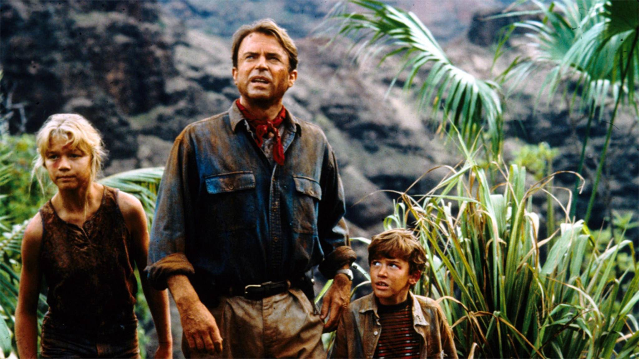 """Steht Dr. Alan Grant (Mitte, Sam Neill) Nick van Owen (Chris Pratt, nicht im Bild) in """"Jurassic World 2"""" hilfreich zur Seite?"""