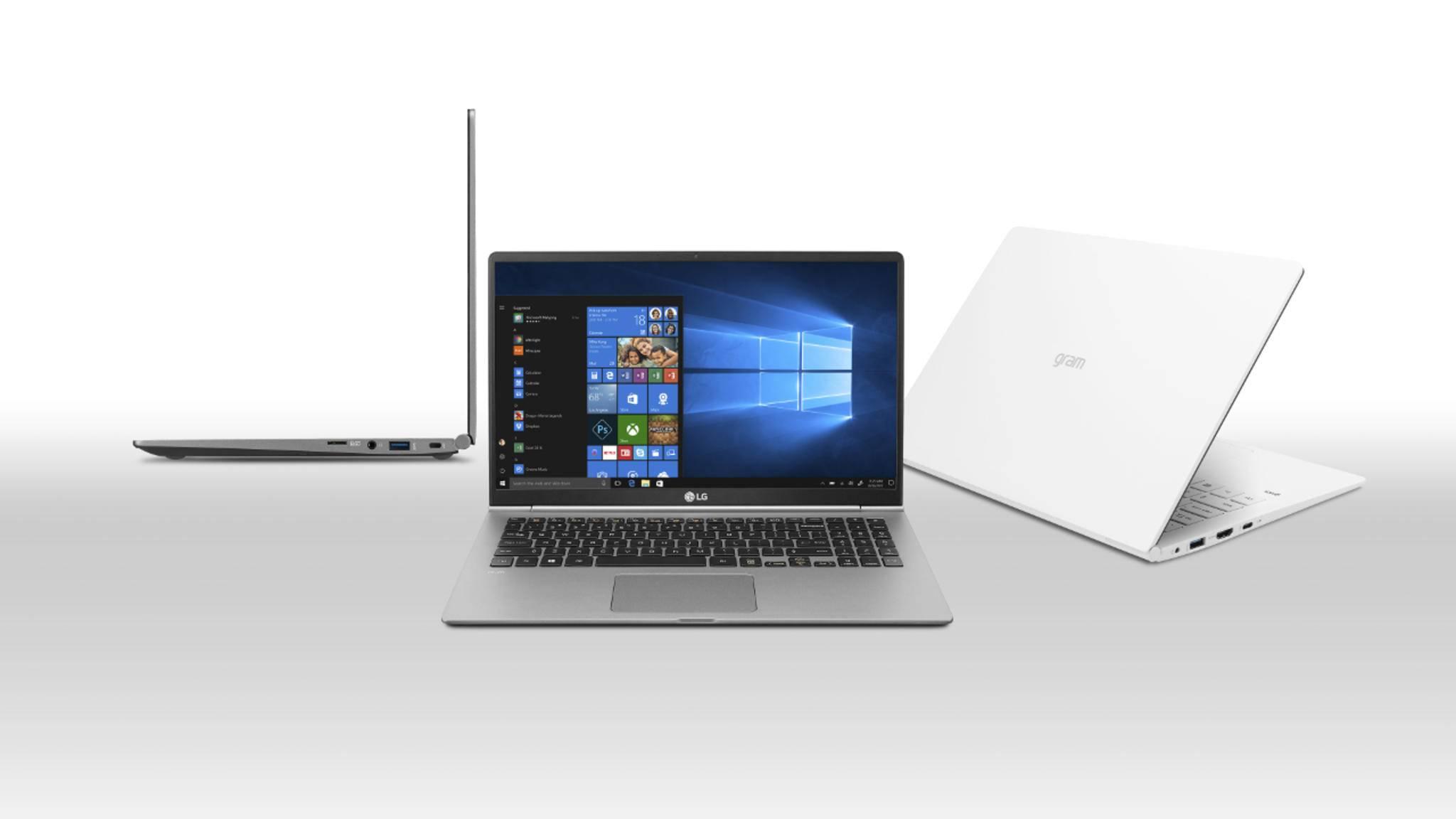 Die Gram-Laptops von LG sind dünn und robust zugleich.
