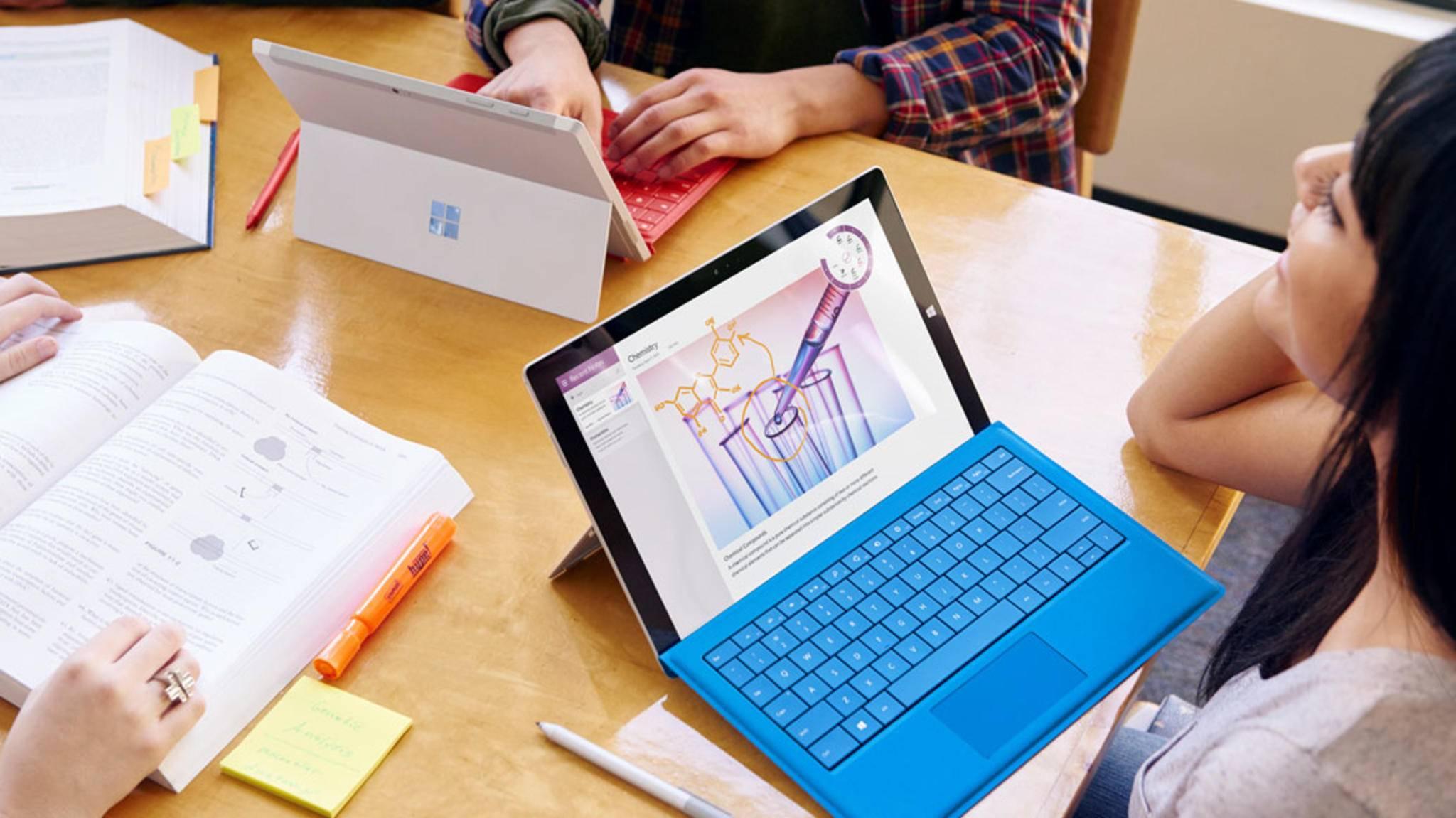 Viele Studenten können Microsoft 365 kostenlos nutzen.