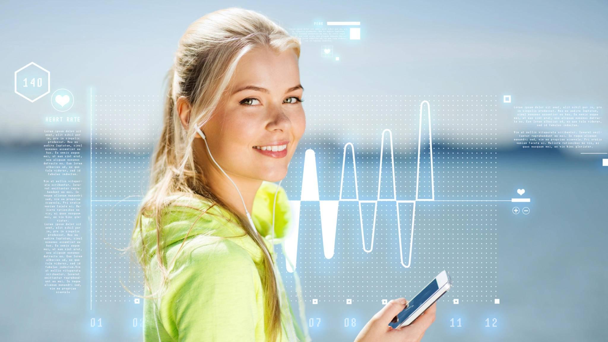 Überall den Puls messen können – dank cleverer Smartphone-Apps ist das möglich.