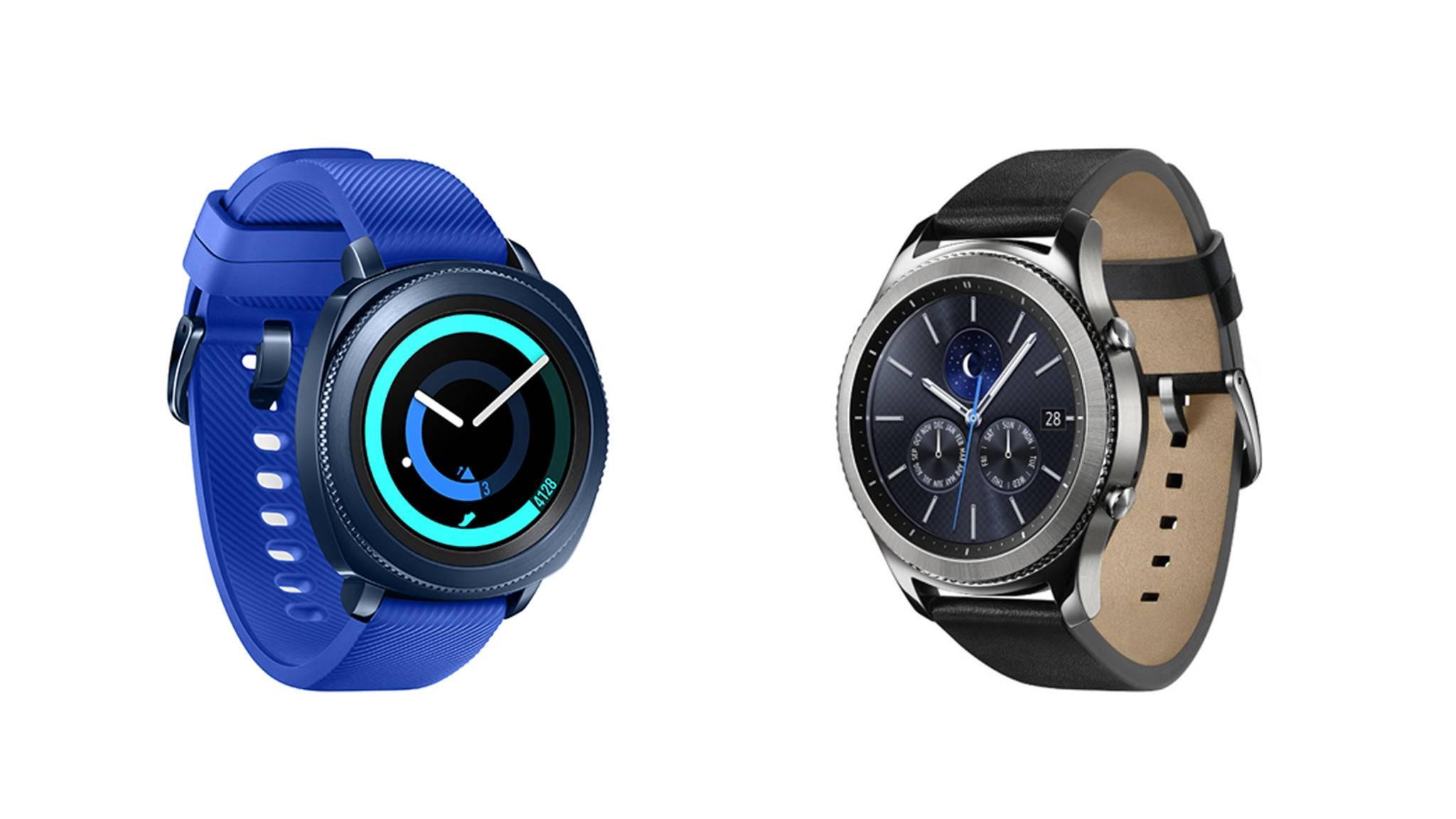 Die Samsung Gear Sport und die Samsung Gear S3 treten zum direkten Vergleich an.