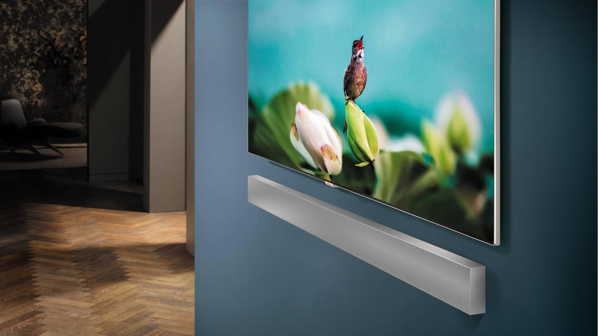 Die Samsung-Soundbar NW700 besticht mit ihrer extrem schlanken Erscheinung.