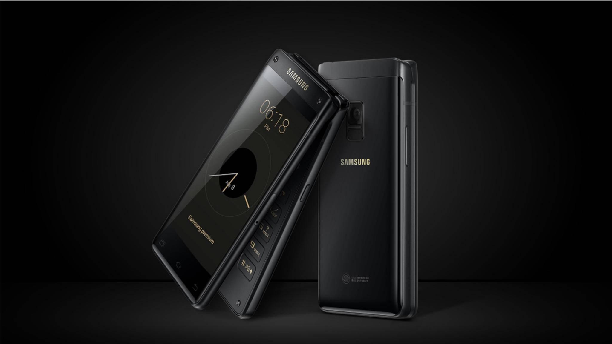 Das Samsung W2018 ist ein Klapphandy mit High-End-Technik im Inneren.