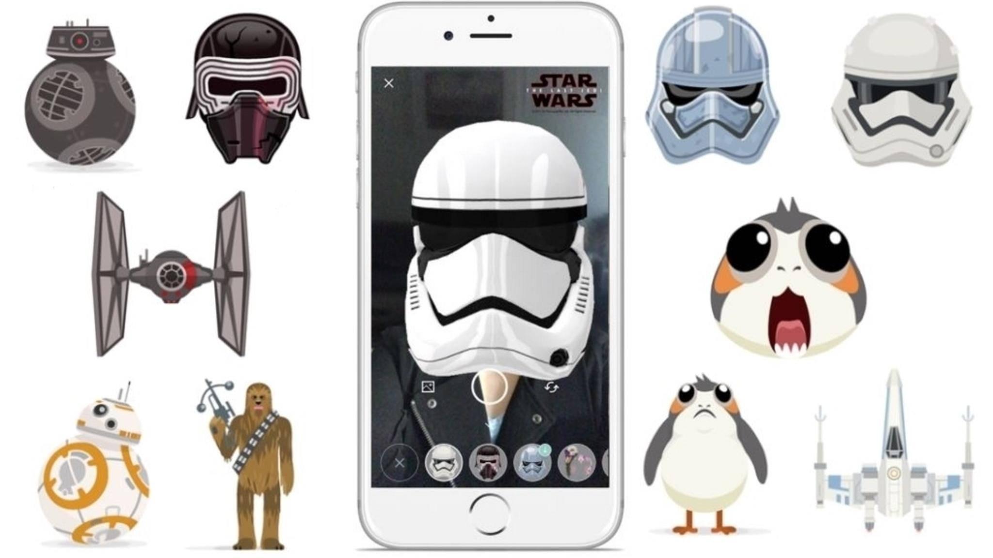 """Neue Emojis und Masken: Skype ist im """"Star Wars""""-Fieber."""