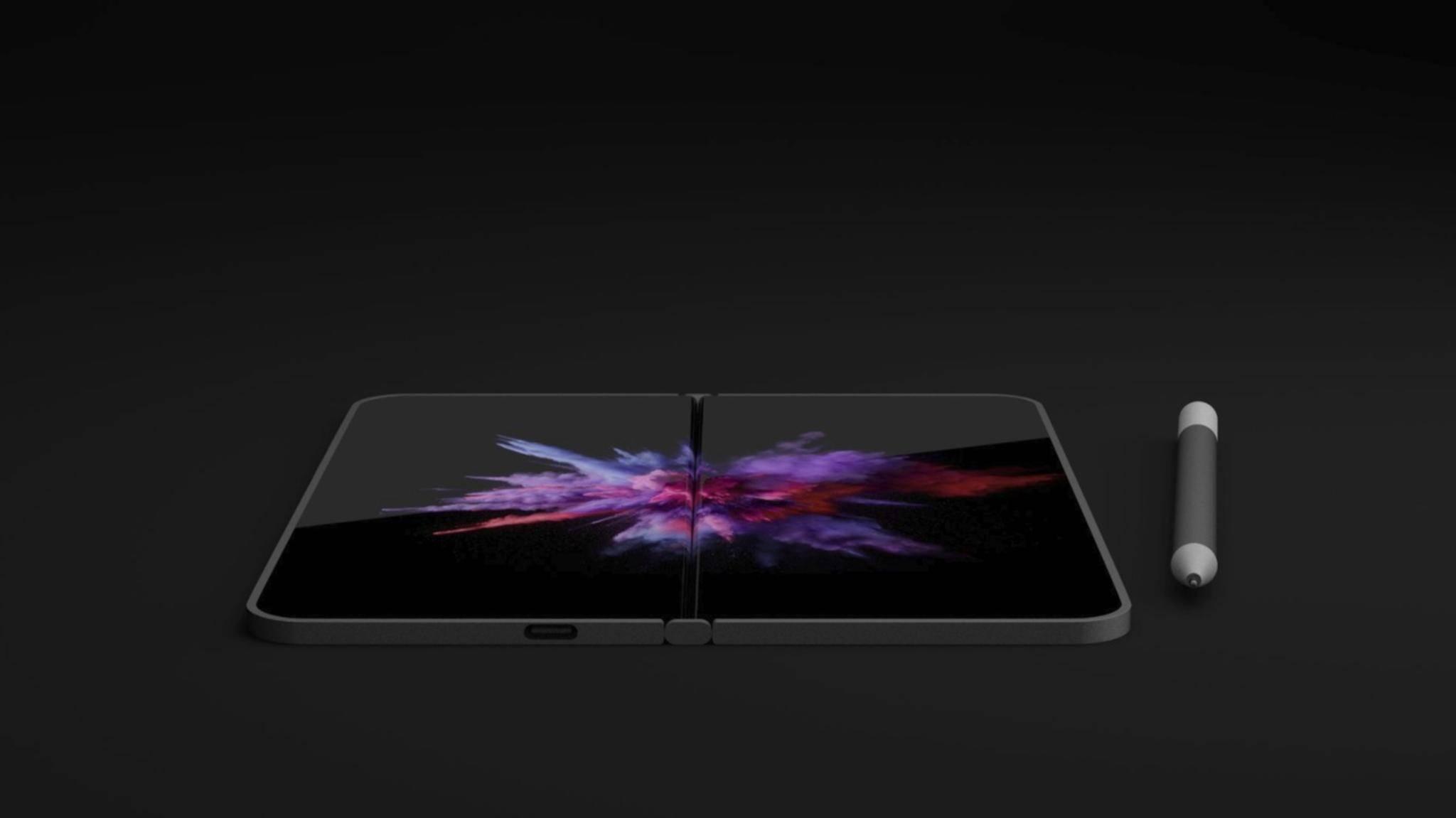 Dieses Konzeptbild könnte dem finalen Surface Phone schon recht nahe kommen.