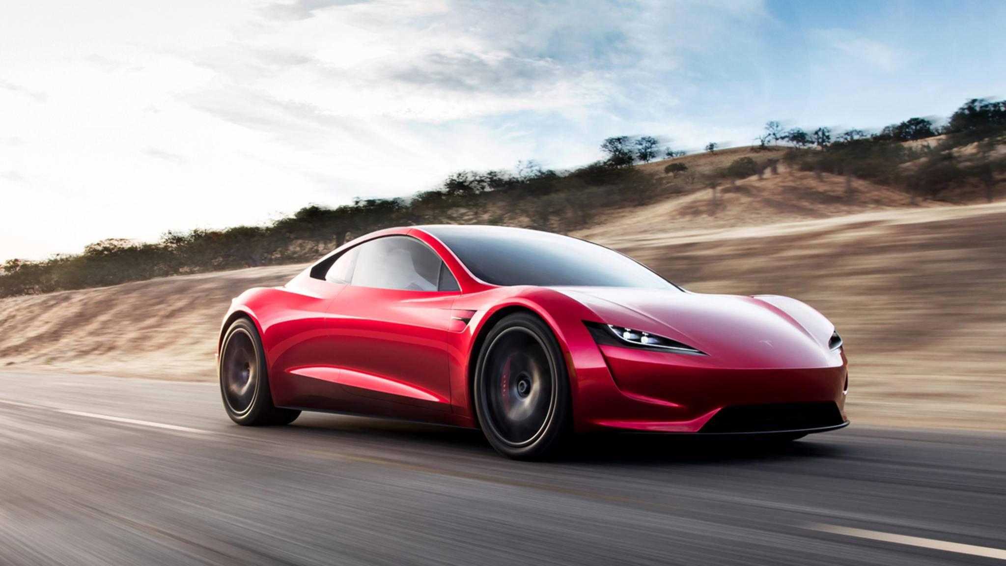 Elektroautos können auch sportlich – das will der neue Tesla Roadster ab 2020 unter Beweis stellen.