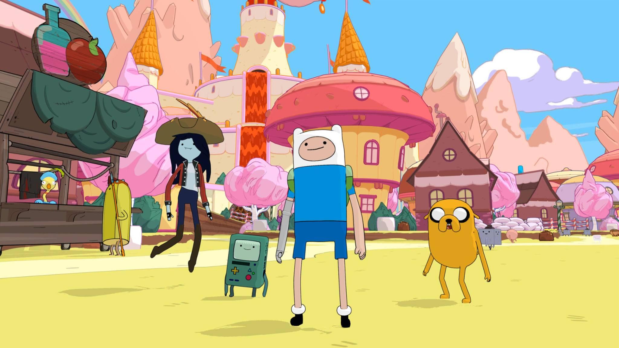 """Die """"Adventure Time""""-Clique geht bald auf große Fahrt durch eine eigene offene Spielwelt."""