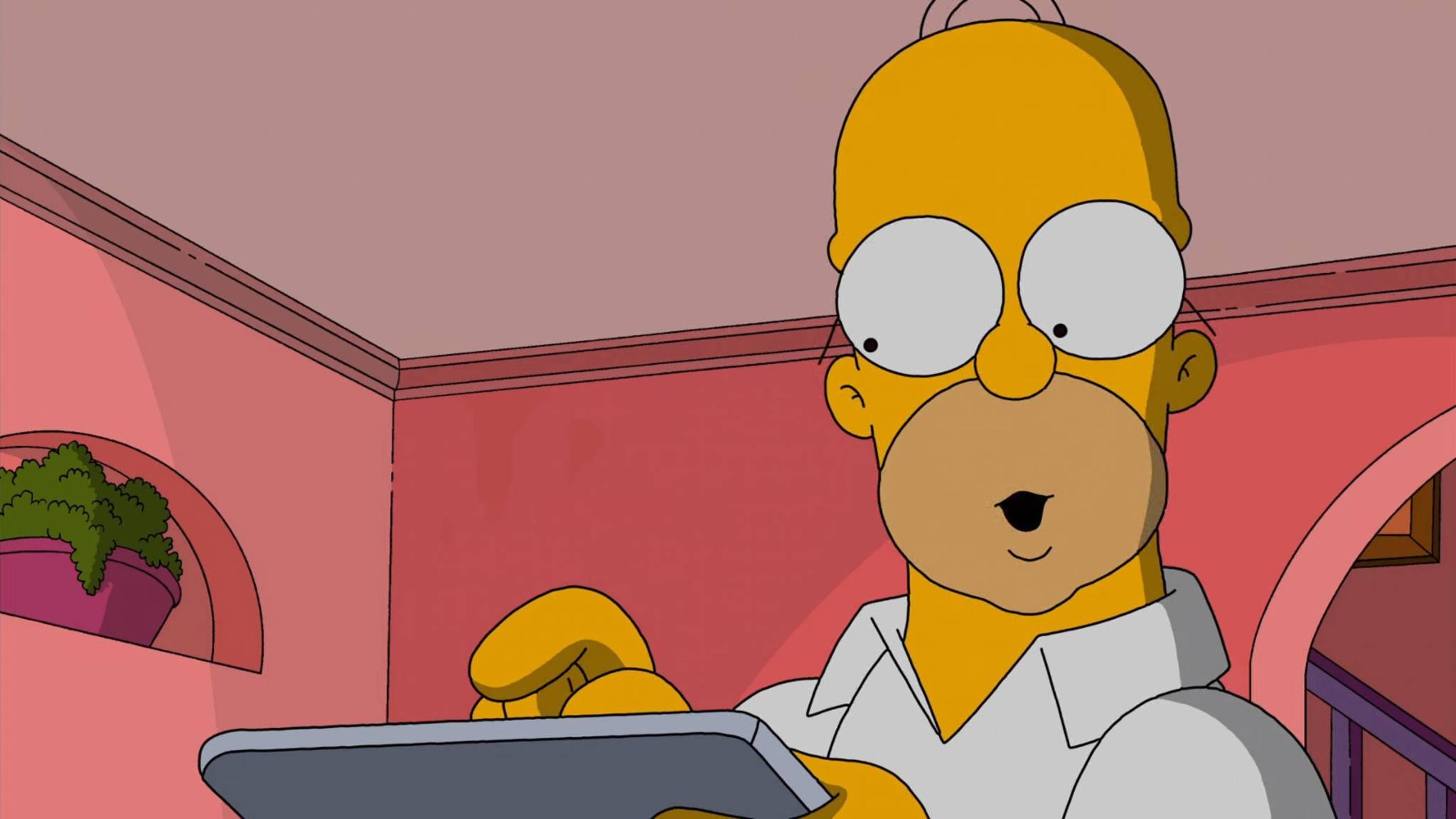 """Da staunt nicht nur Homer: """"Die Simpsons"""" sind die Stars in einer ganzen Reihe von Games."""