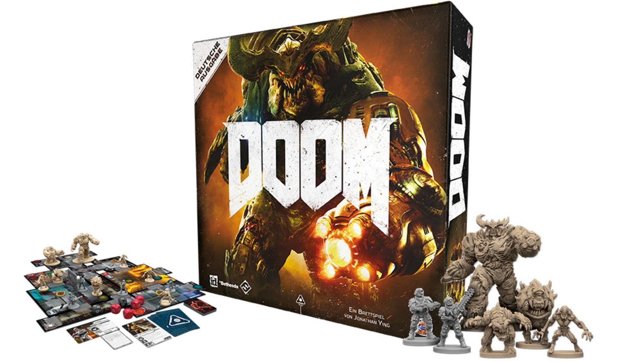 """Wie der Ego-Shooter, aber mit Würfeln: das """"Doom""""-Brettspiel."""