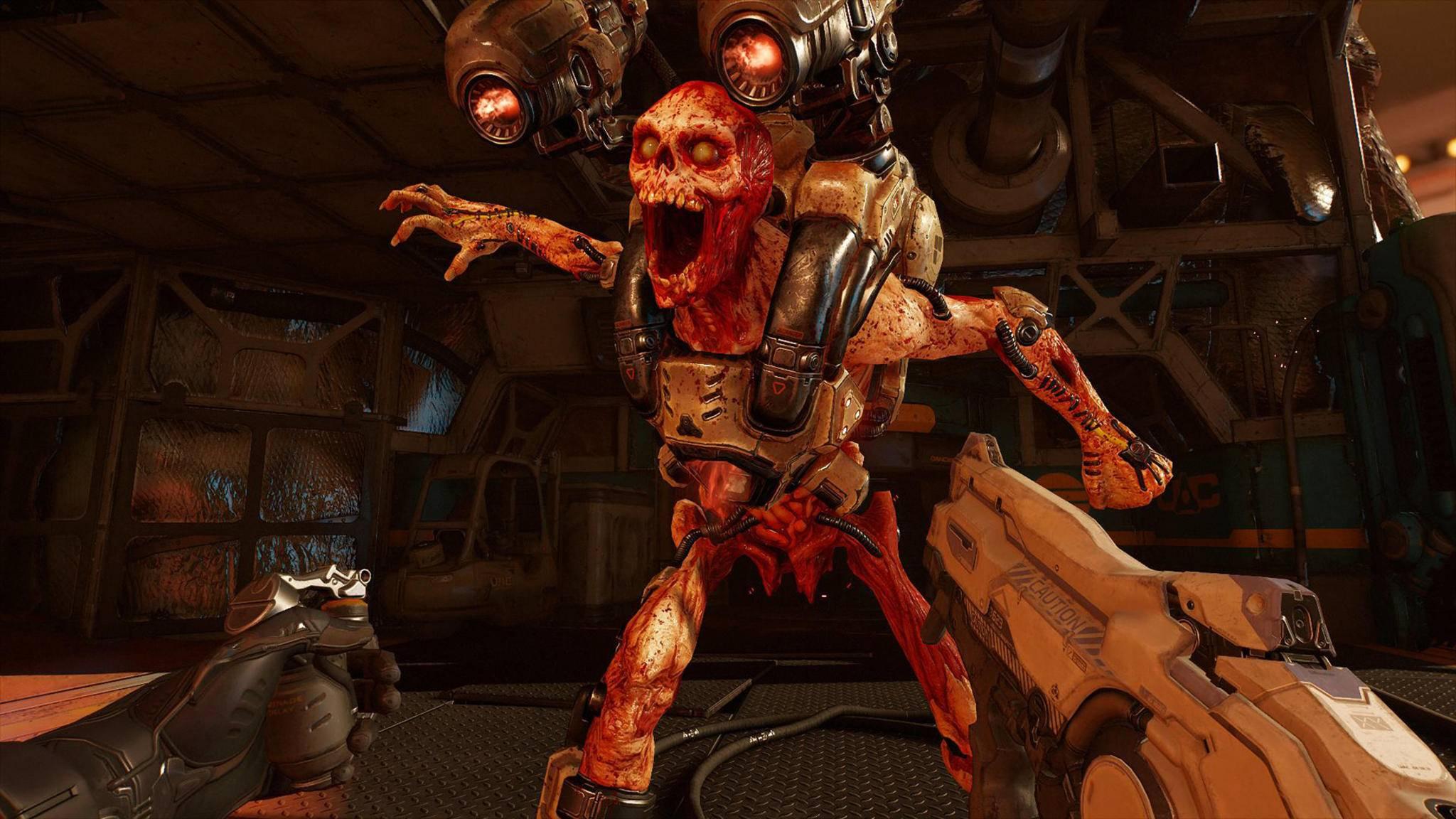 """Funktioniert dank Patch jetzt auch auf mit der Oculus Rift: """"Doom VFR""""."""