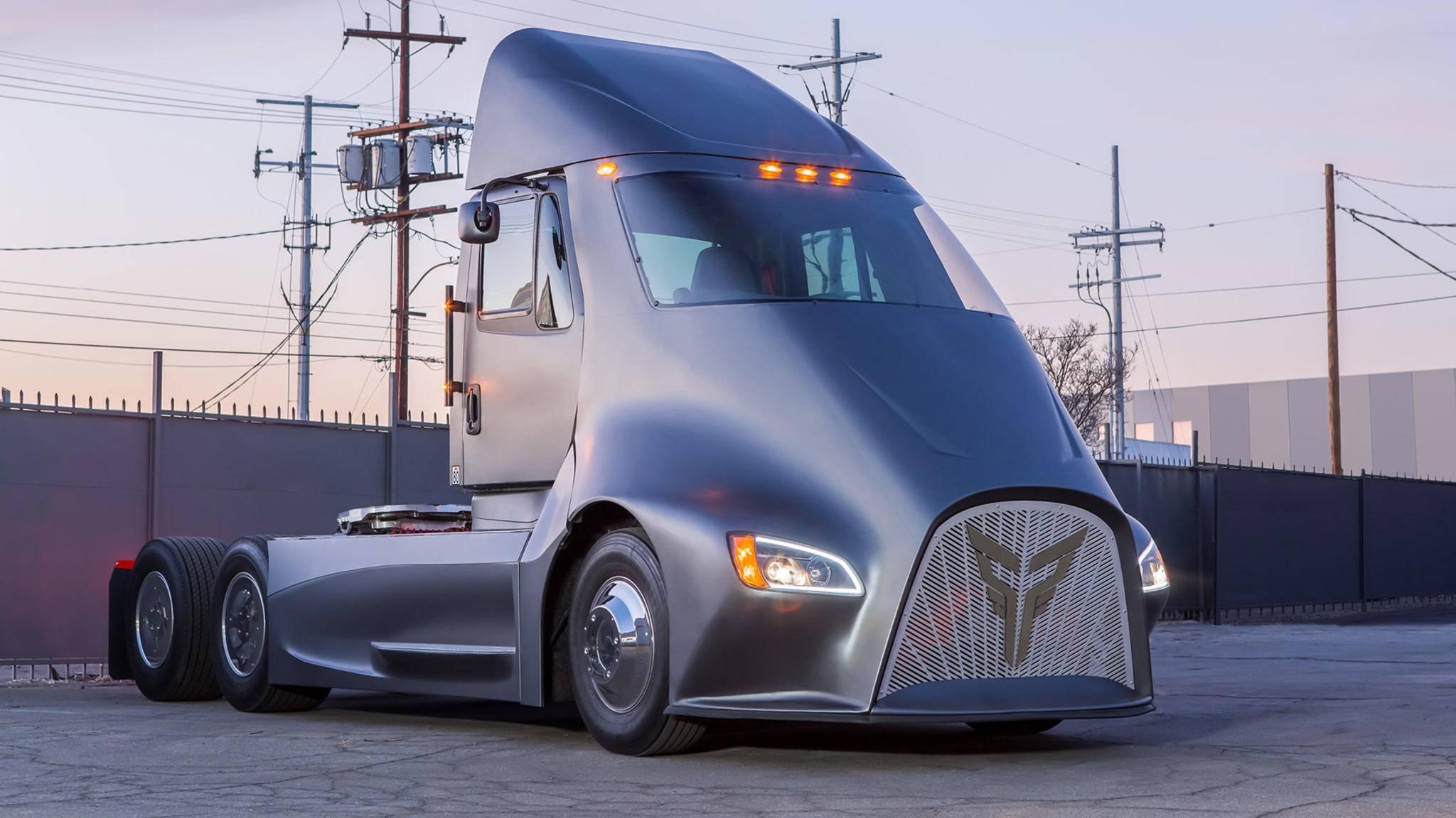 Diese schicke Elektro-Lkw soll bereits 2019 Güter auf den Straßen transportieren.