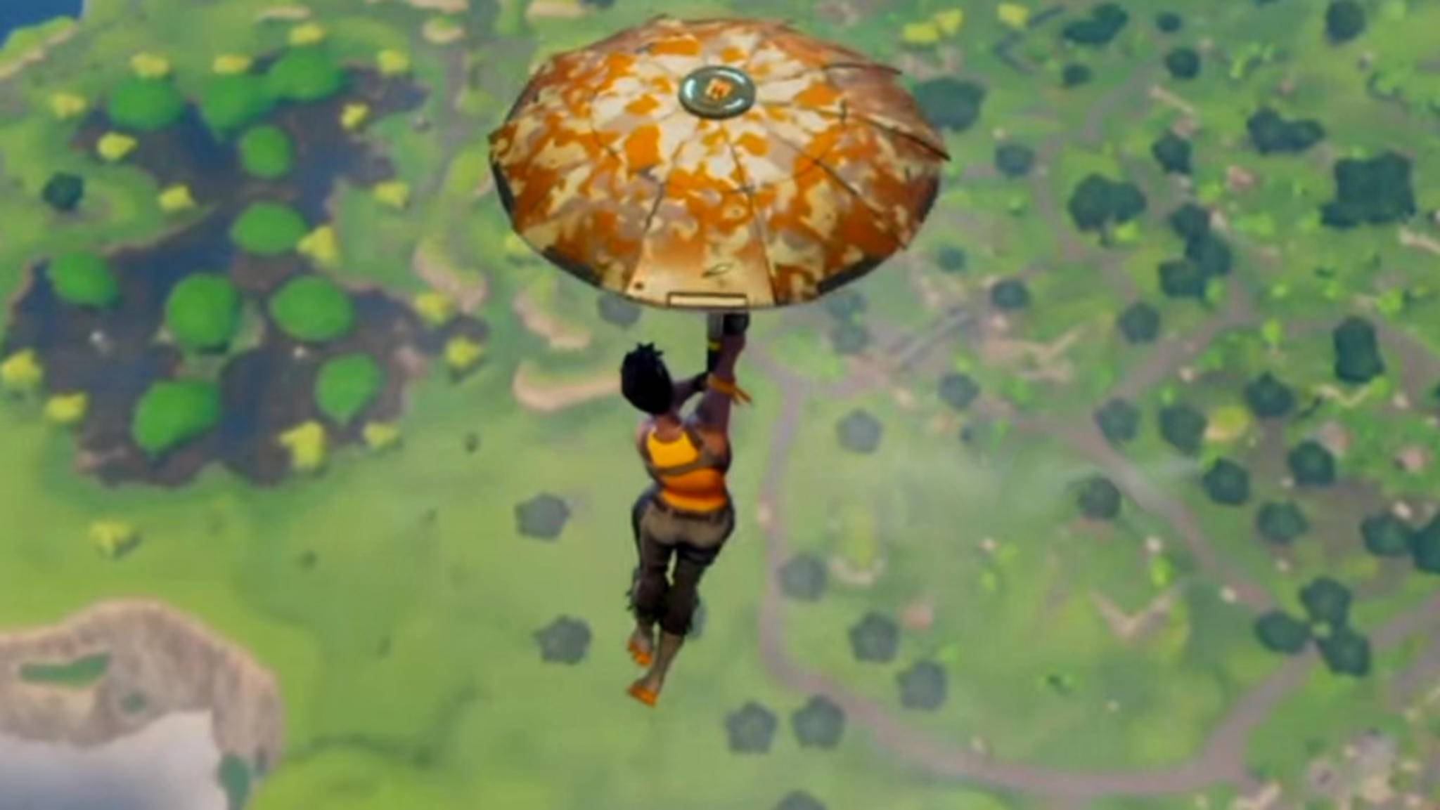 """""""Fortnite: Battle Royale"""" lässt Dich mit Schirm auf Schlachtfeld segeln."""