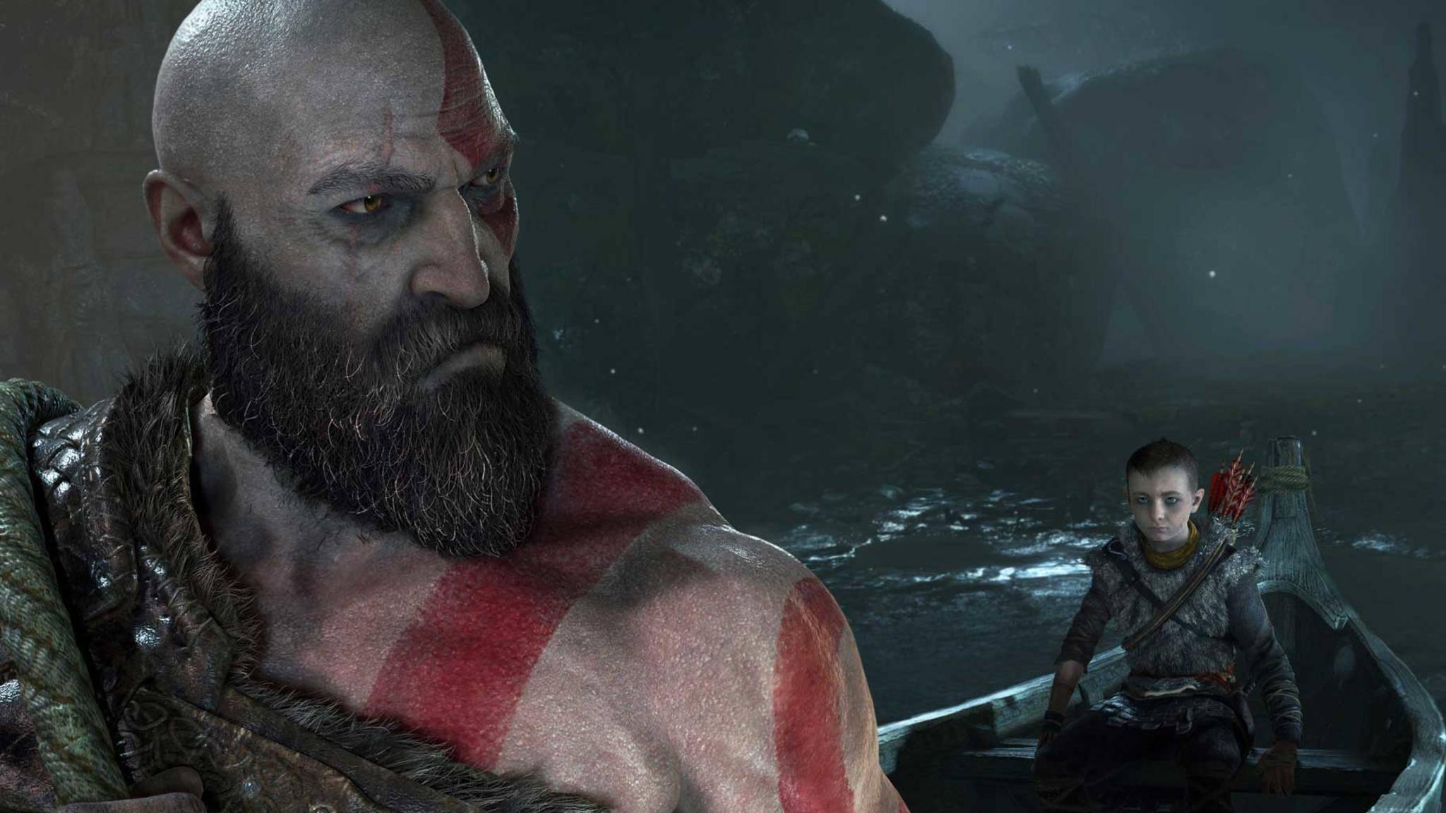 """Kratos ist kein Mann großer Worte. """"God of War"""" kommt das zugute."""