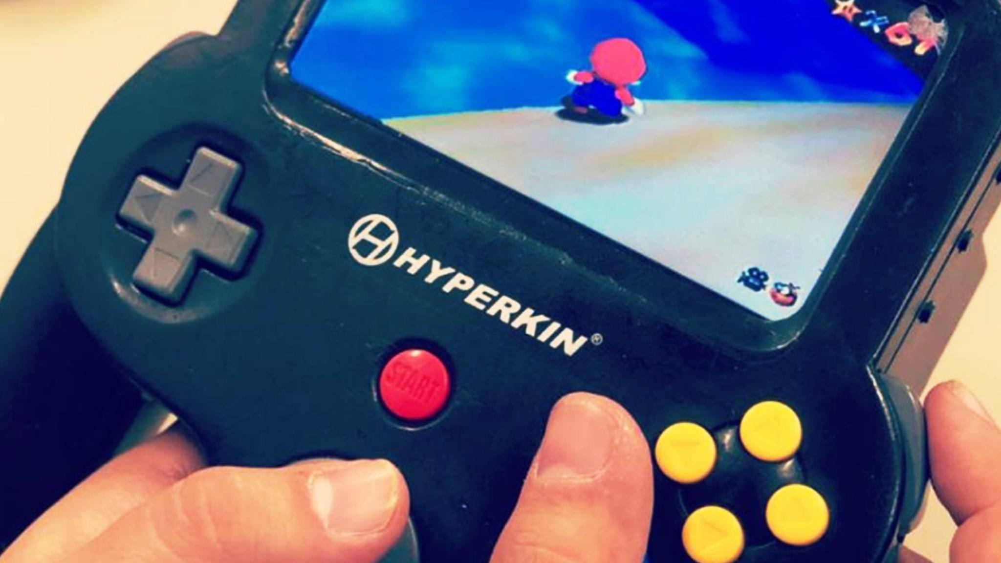 Der N64-Handheld verfügt über ein integriertes Display und einen Modul-Slot.
