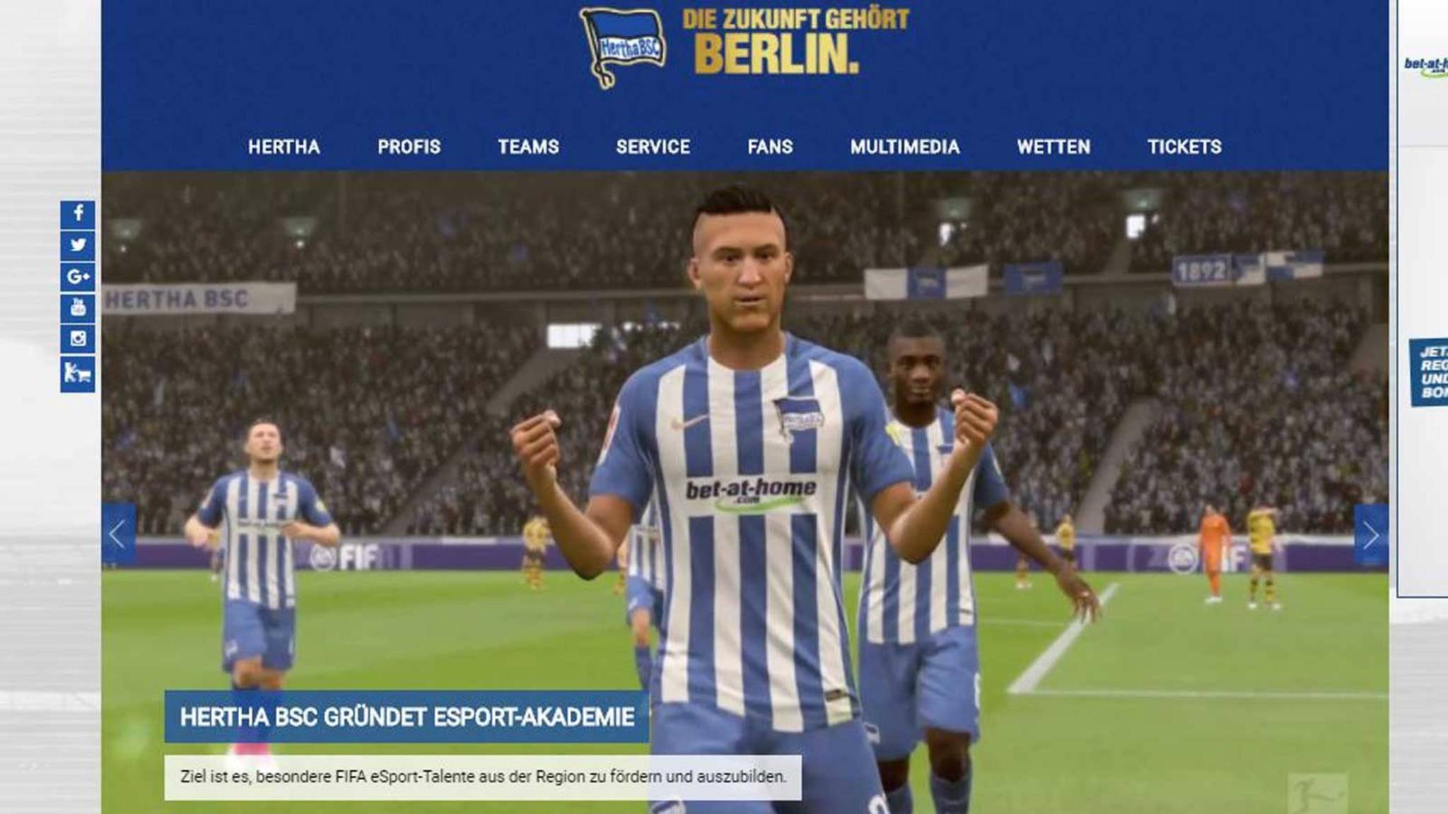 Hertha BSC sucht junge FIFA-Talente, um sie zu Profis auszubilden.