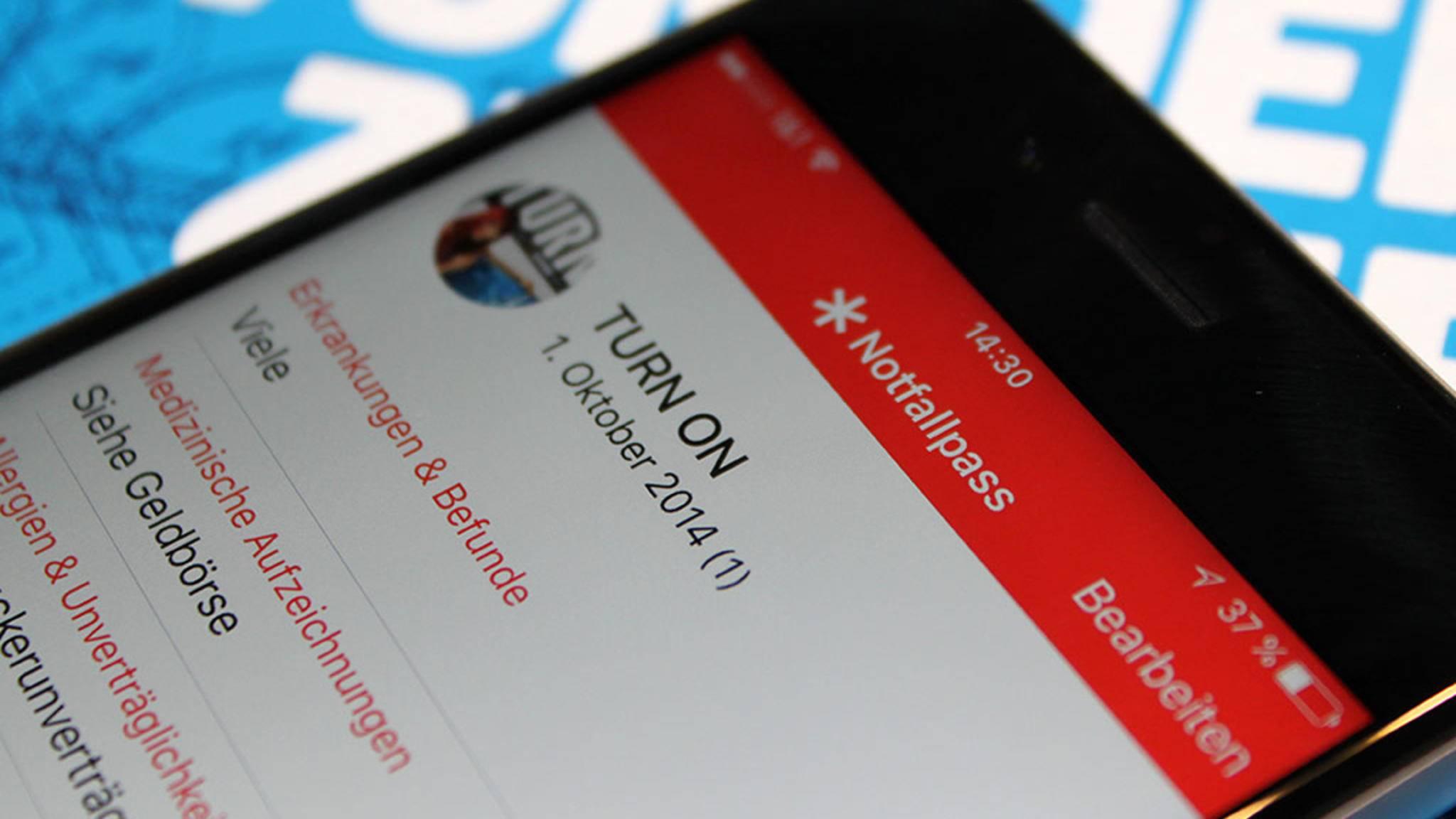 Der Notfallpass kann iPhone-Besitzern das Leben retten.