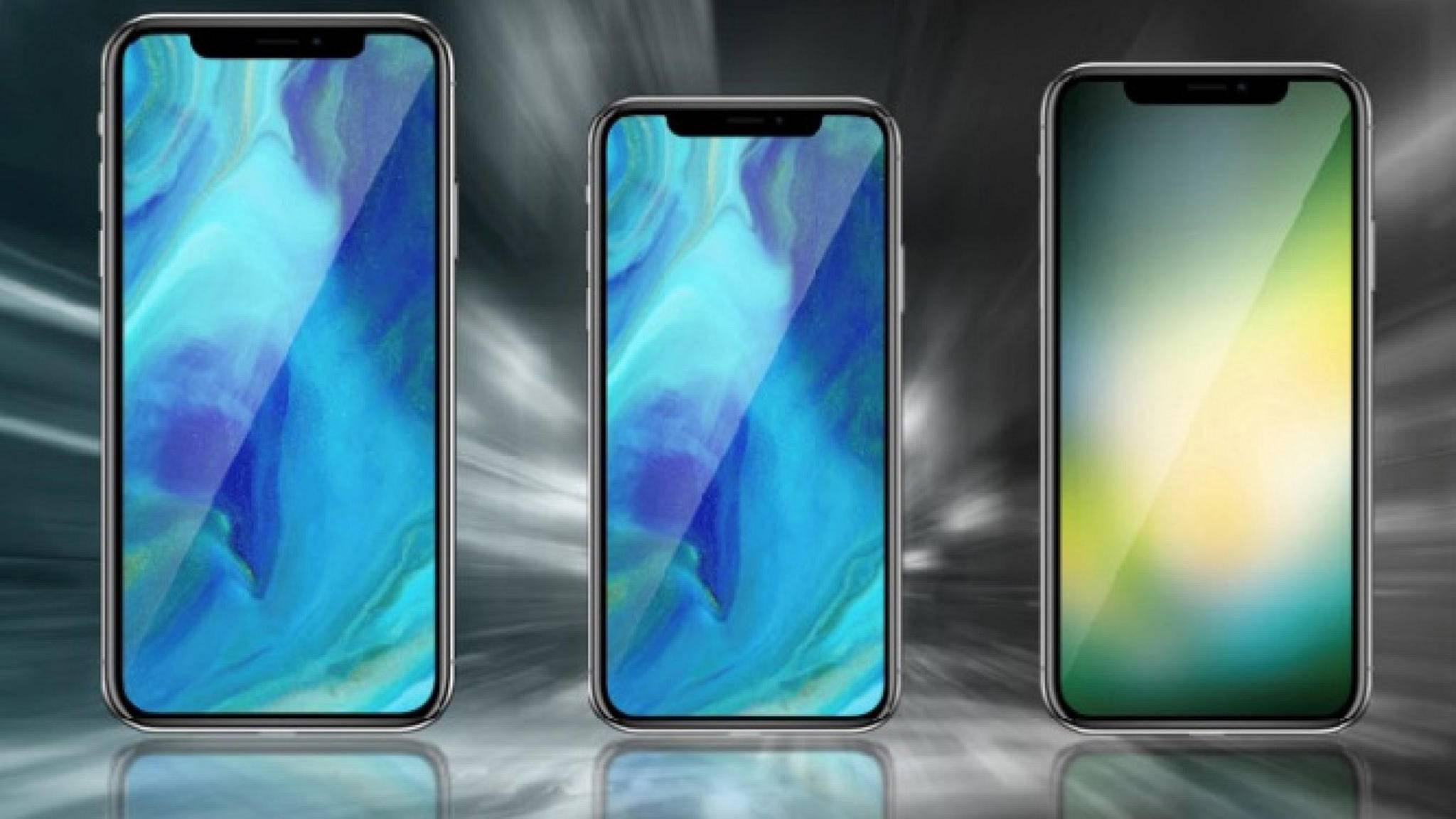 Zwei OLED-iPhones und eines mit LCD: So könnte das 2018er iPhone-Lineup aussehen.