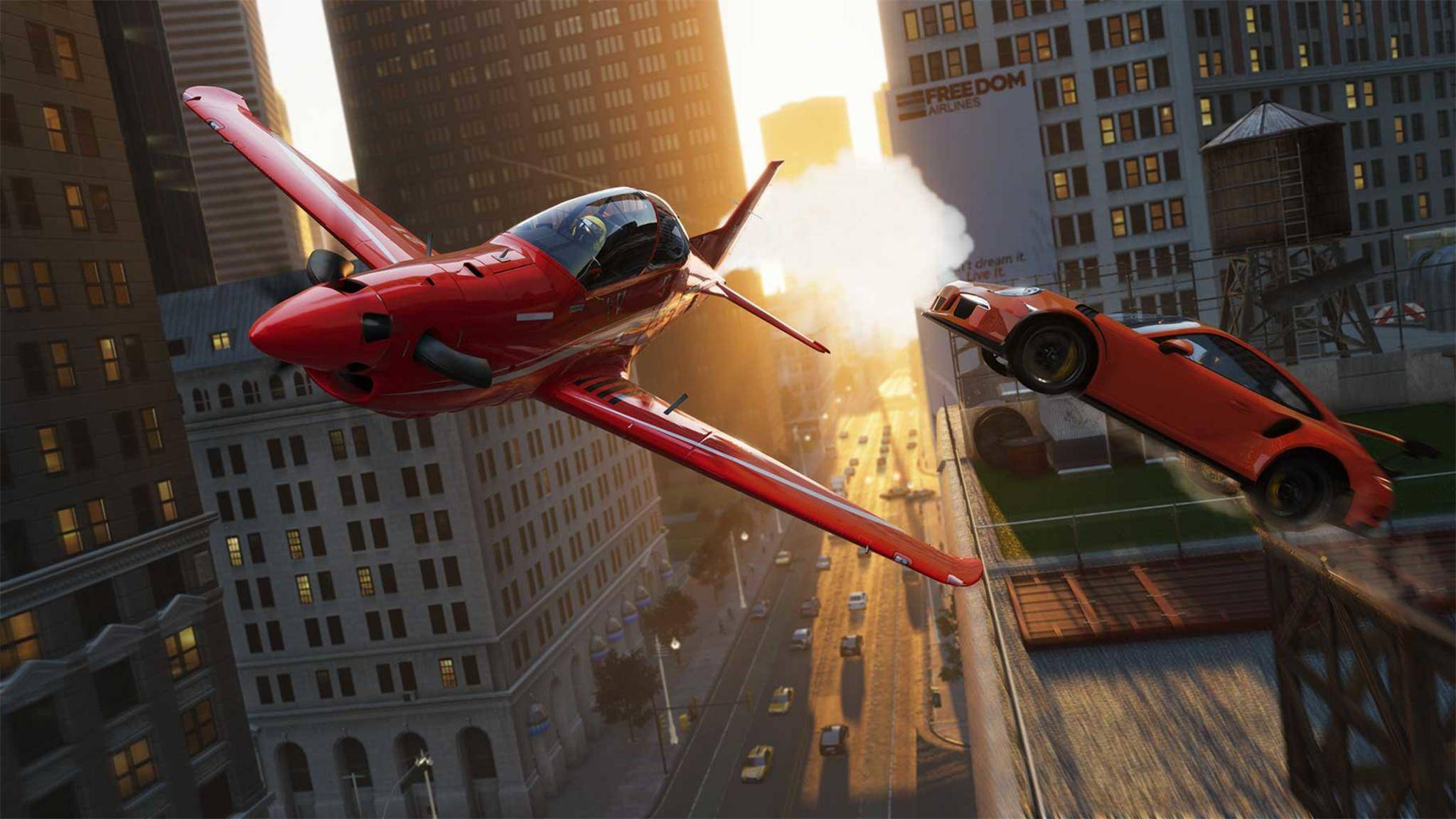 """In """"The Crew 2"""" ist der fliegende Wechsel zwischen Fahrzeugen möglich."""