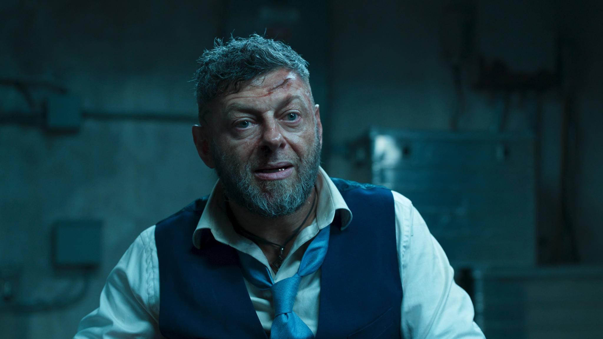 """In """"Black Panther"""" spielte Andy Serkis nicht gerade den netten Märchenonkel ..."""