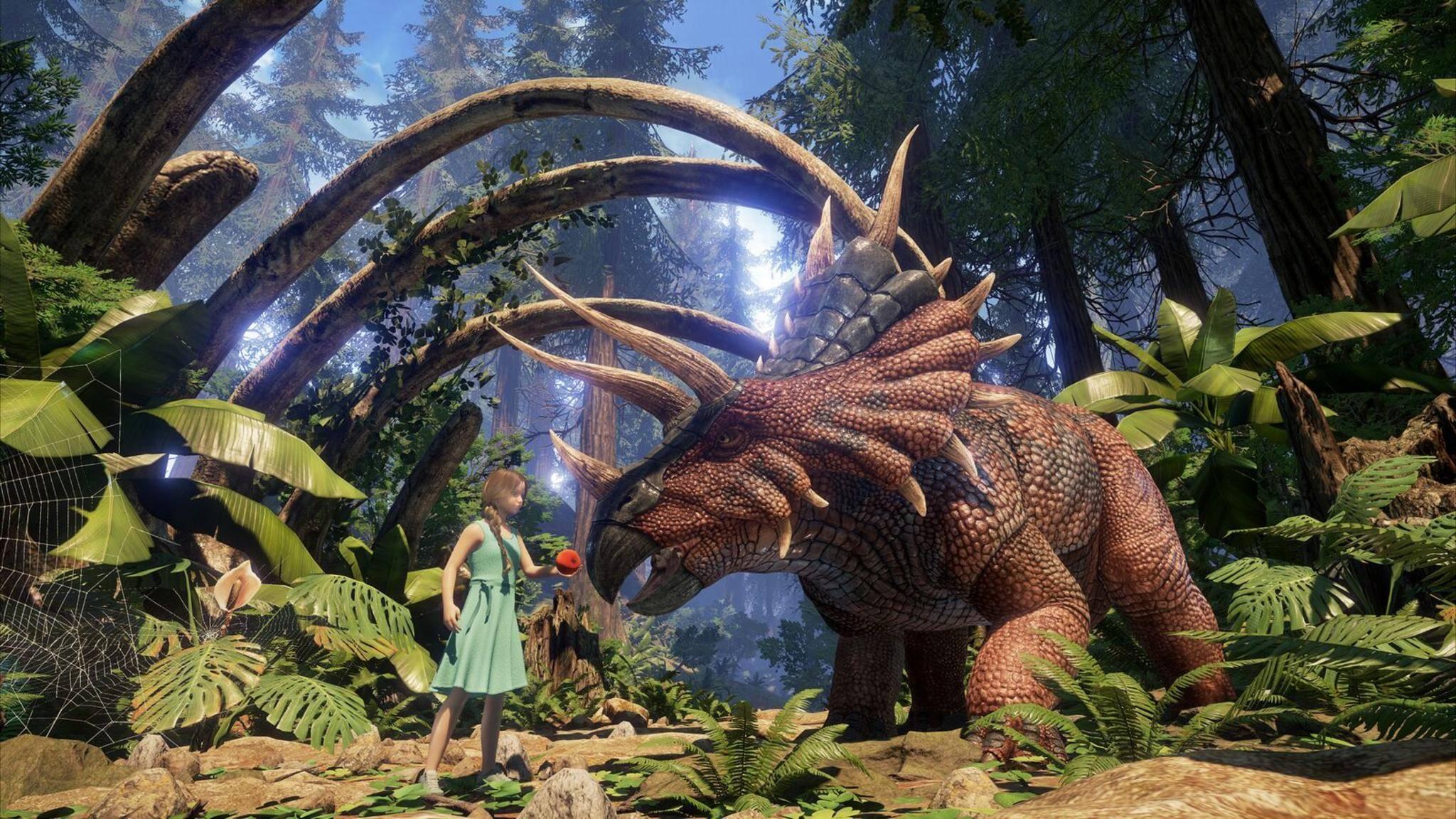 """Dino-Fans begegnen in """"Ark Park"""" ihren geliebten Urzeit-Echsen endlich auf Augenhöhe."""