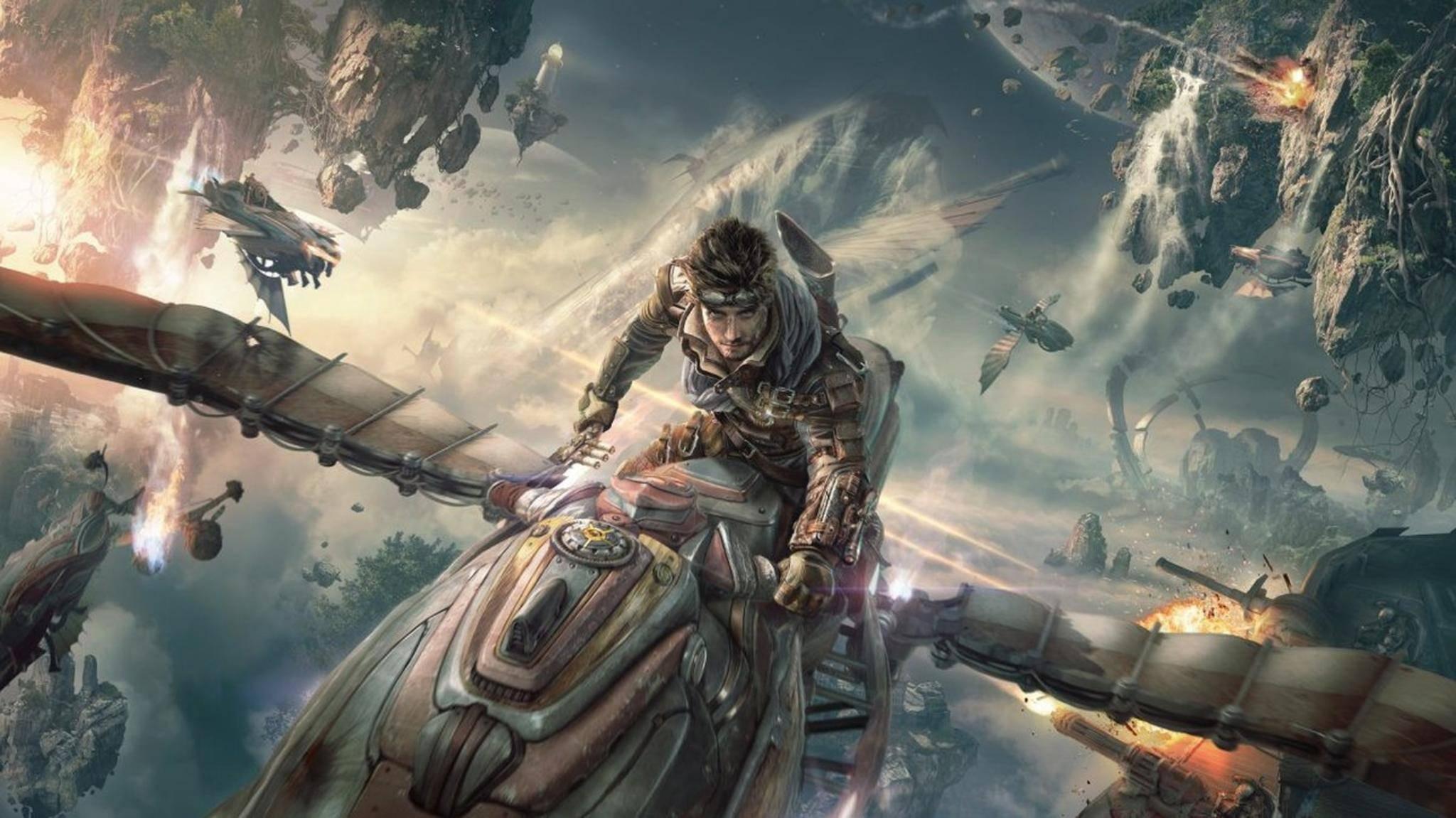"""In """"Ascent: Infinite Realm"""" erwarten Dich spannende Luftschlachten."""