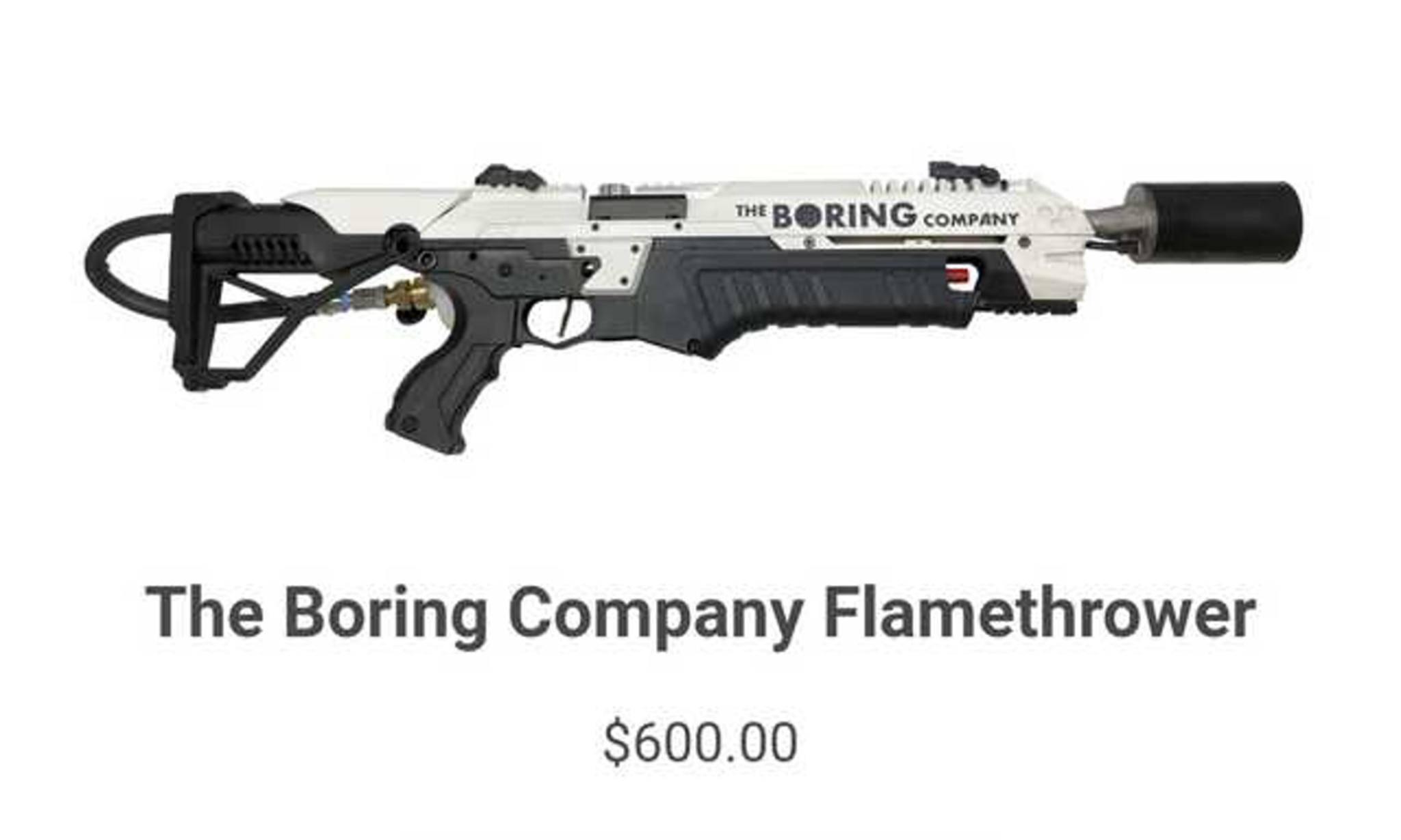 Ein Flammenwerfer für 600 Dollar? Eigentlich ein Schnäppchen, oder?