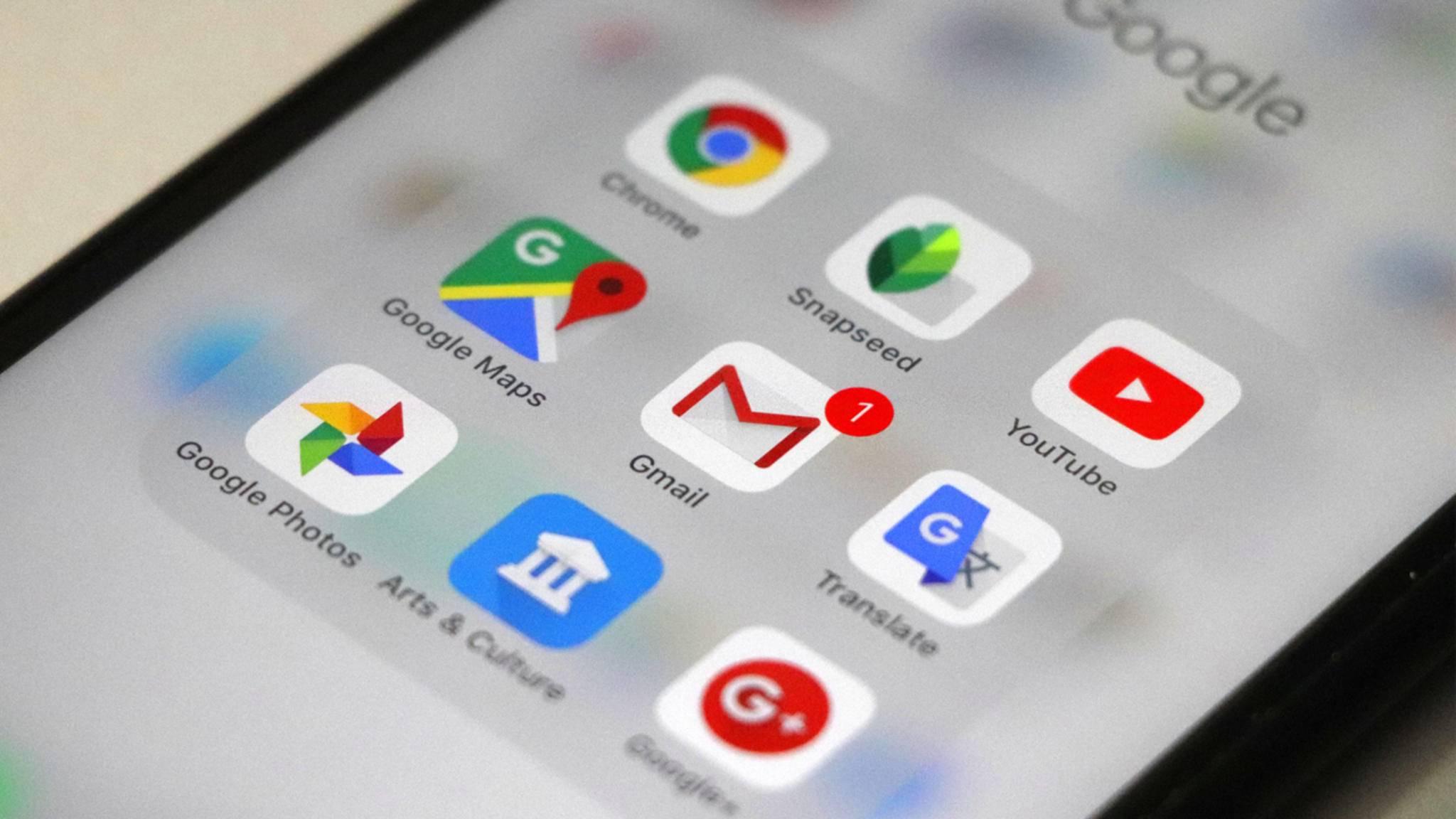 Google-Apps sind auf den meisten Smartphones zu finden – und sammeln oft fleißig Daten.