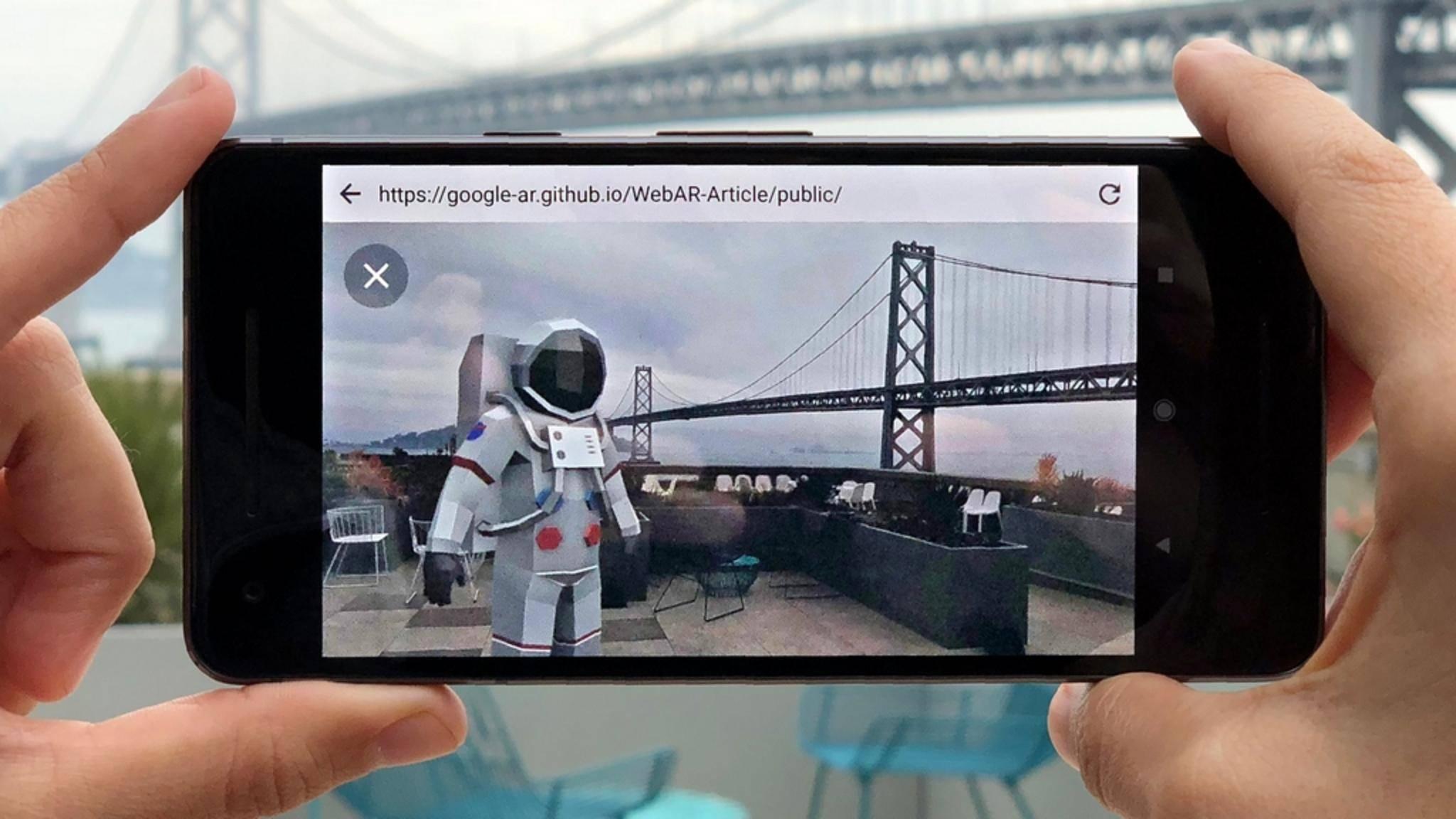 Google möchte Augmented-Reality-Inhalte auf alle Websites bringen.