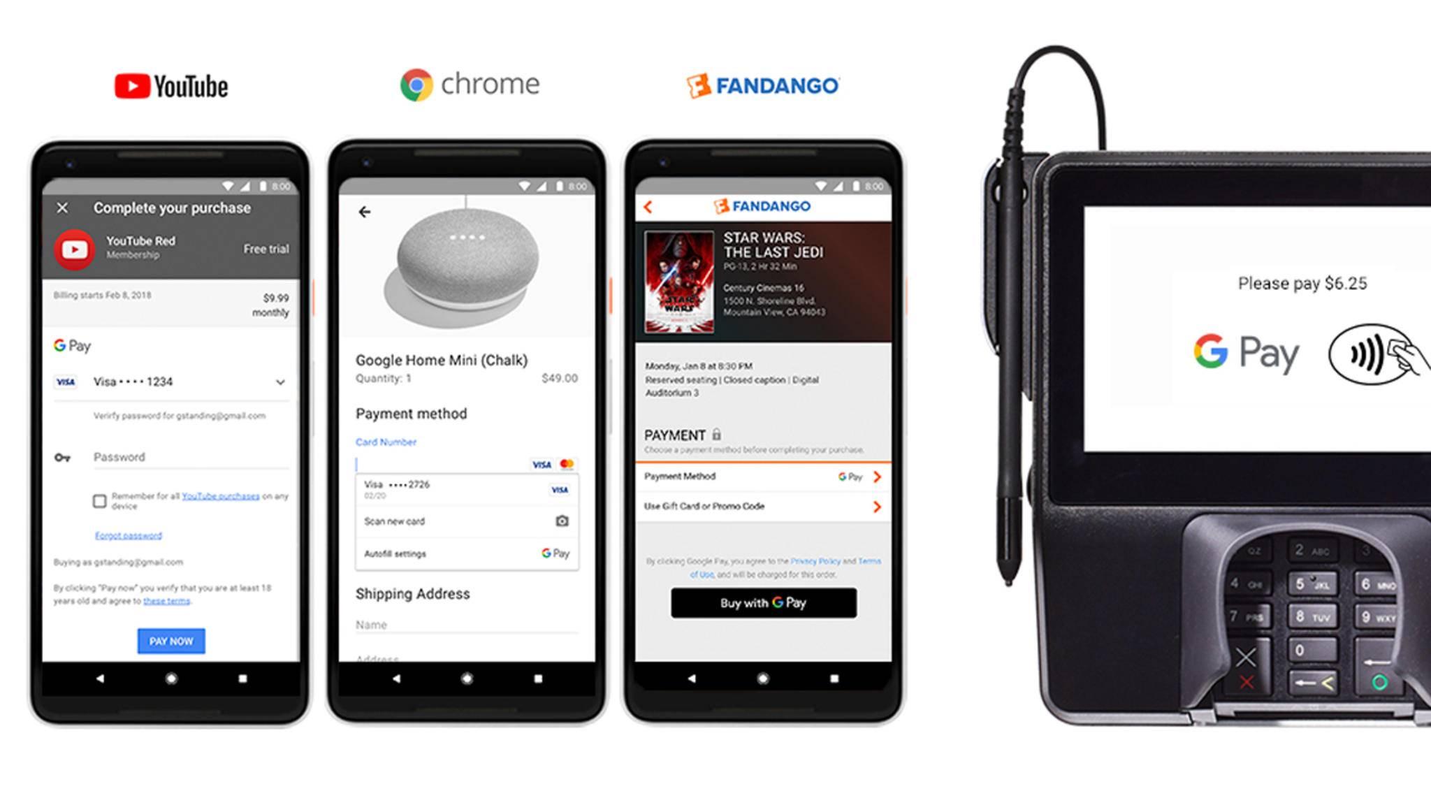 Google Pay löst die beiden Plattformen Android Pay und Google Wallet ab.
