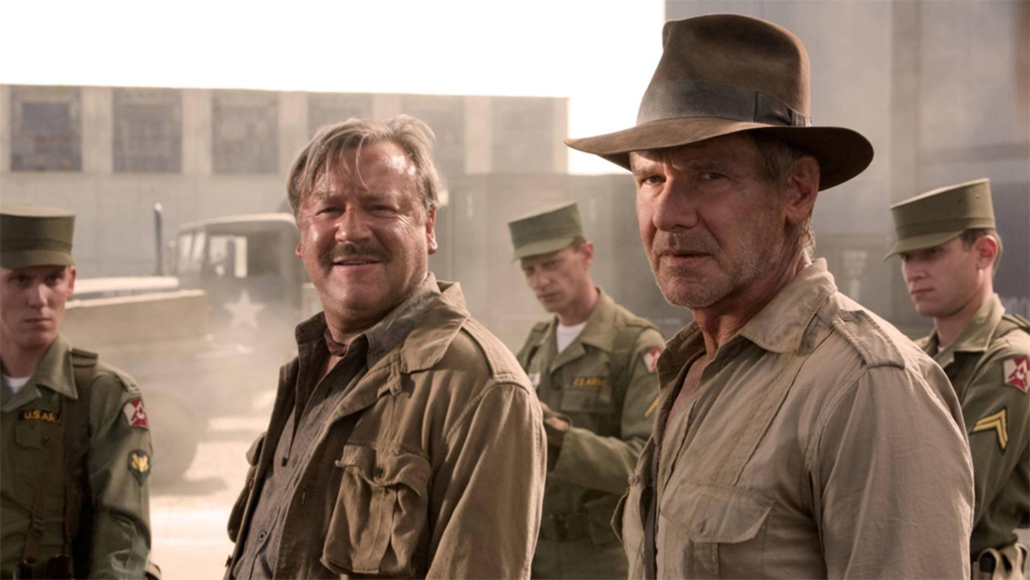 """Da freut sich auch der Kollege: """"Indiana Jones 5"""" kommt wohl planmäßig 2020."""