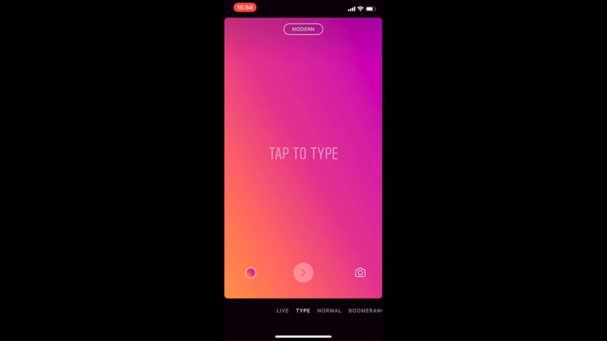 Instagram weitet den Test von reinen Text-Storys aus.