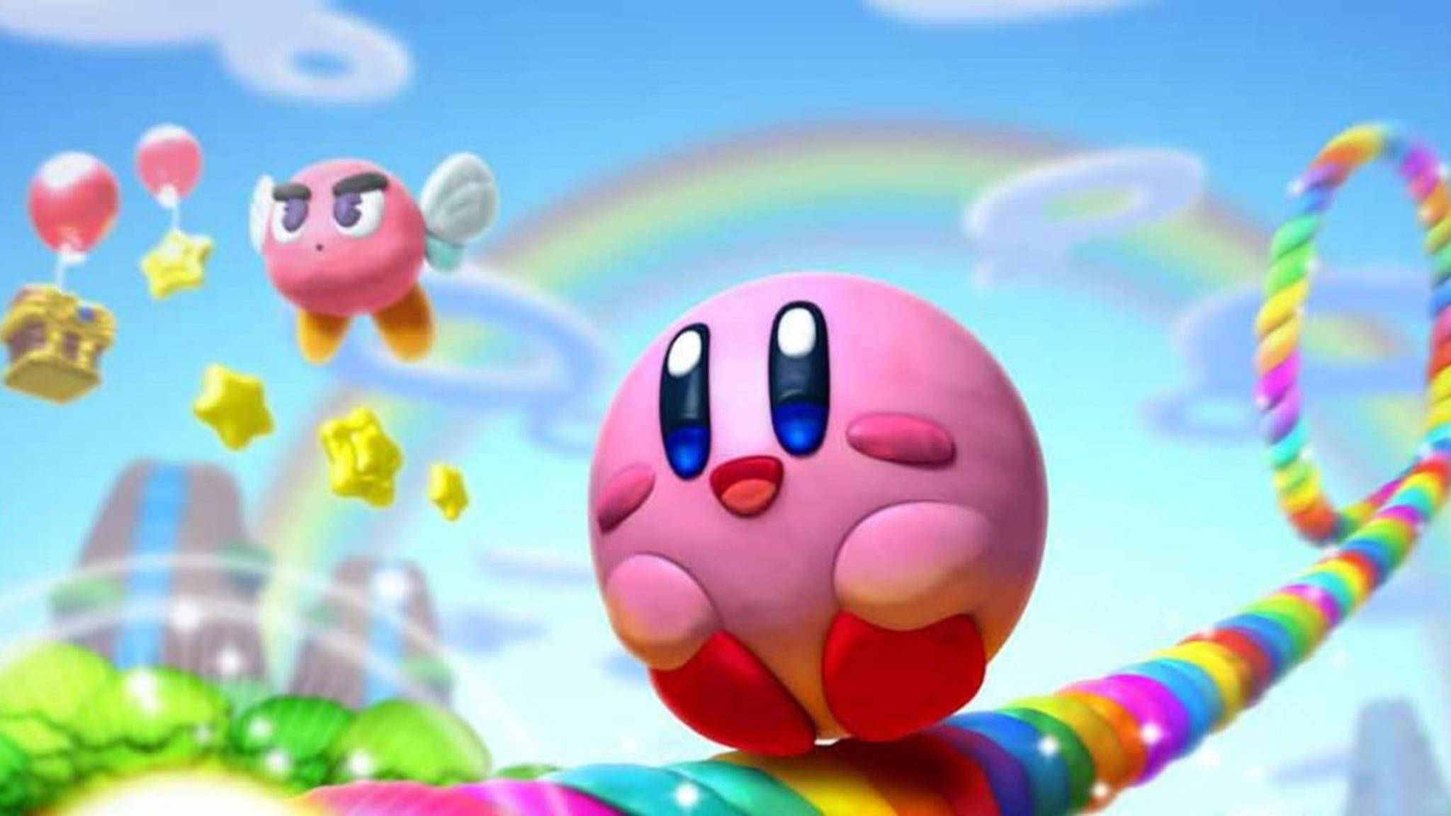 """Kirby besucht in """"Kirby 64"""" eine menschenleere Erde."""