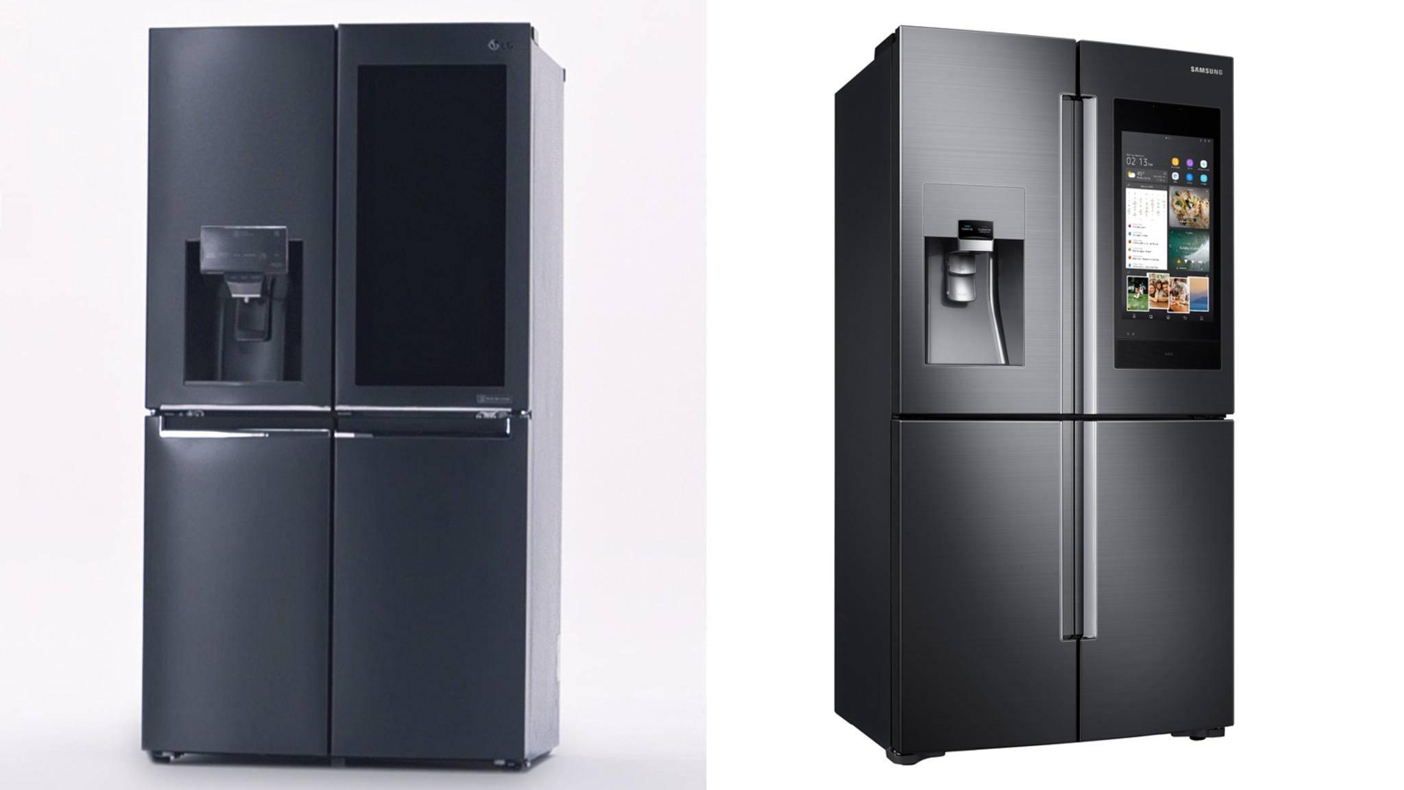 Auf der CES 2018 haben LG und Samsung jeweils neue Smart-Kühlschränke vorgestellt.